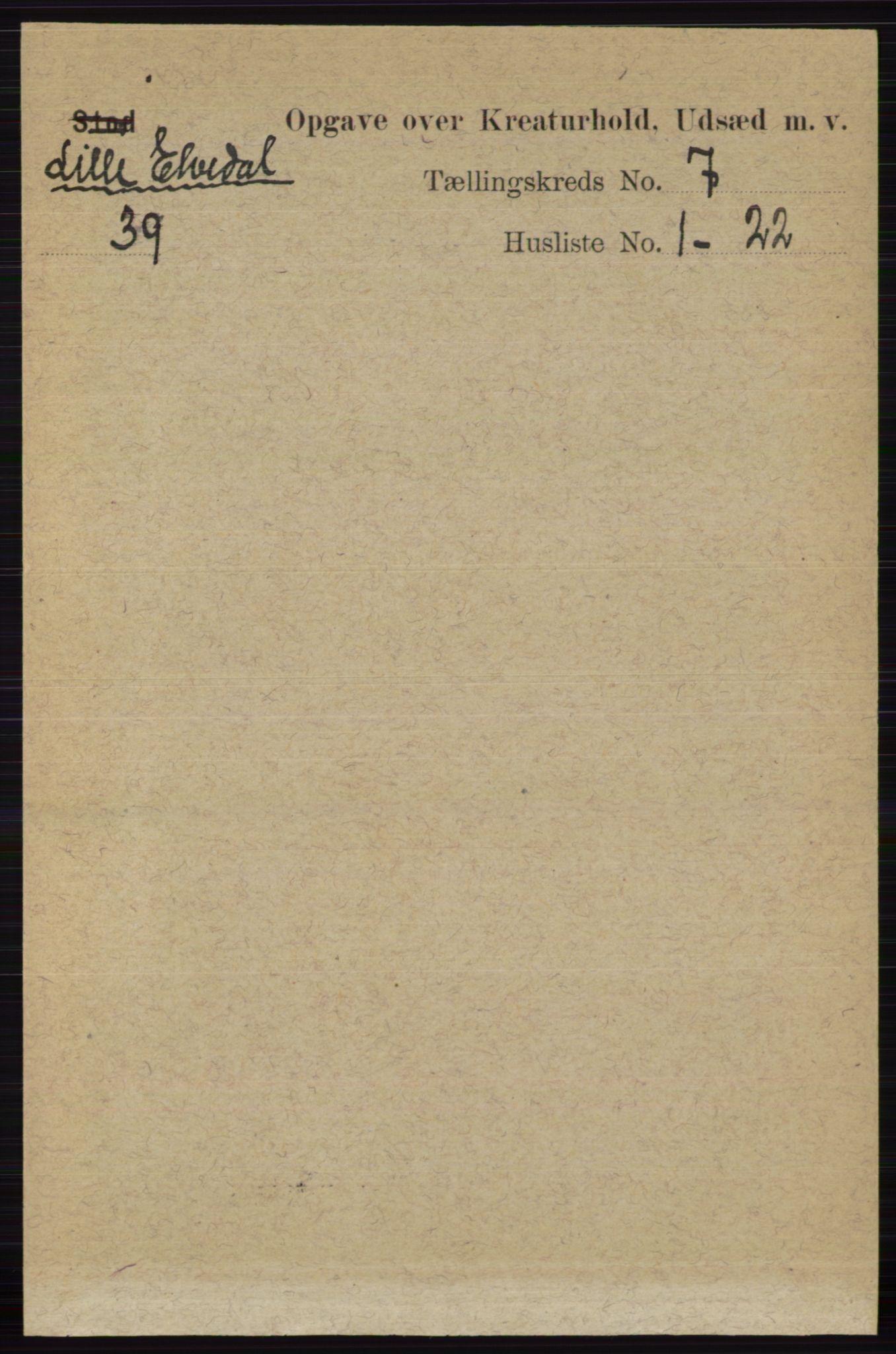 RA, Folketelling 1891 for 0438 Lille Elvedalen herred, 1891, s. 4522