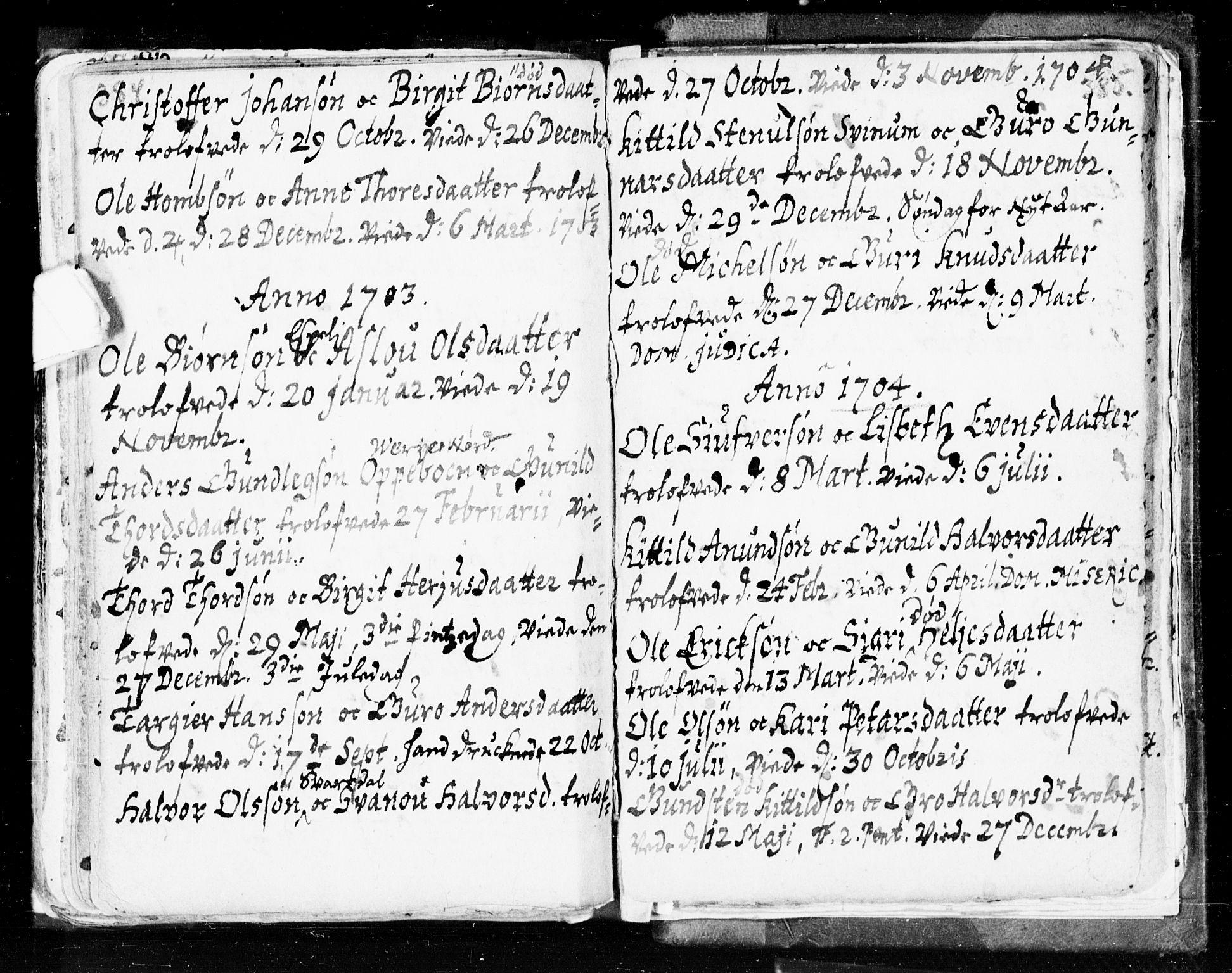 SAKO, Seljord kirkebøker, F/Fa/L0002: Ministerialbok nr. I 2, 1689-1713, s. 384-385
