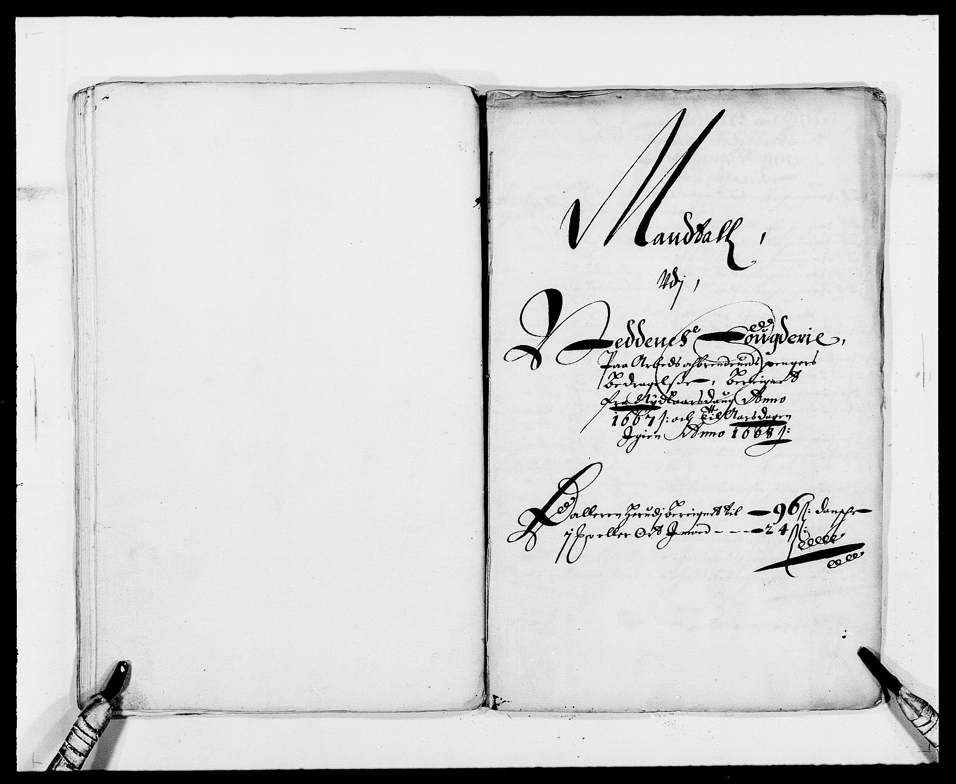 RA, Rentekammeret inntil 1814, Reviderte regnskaper, Fogderegnskap, R39/L2298: Fogderegnskap Nedenes, 1667-1669, s. 2