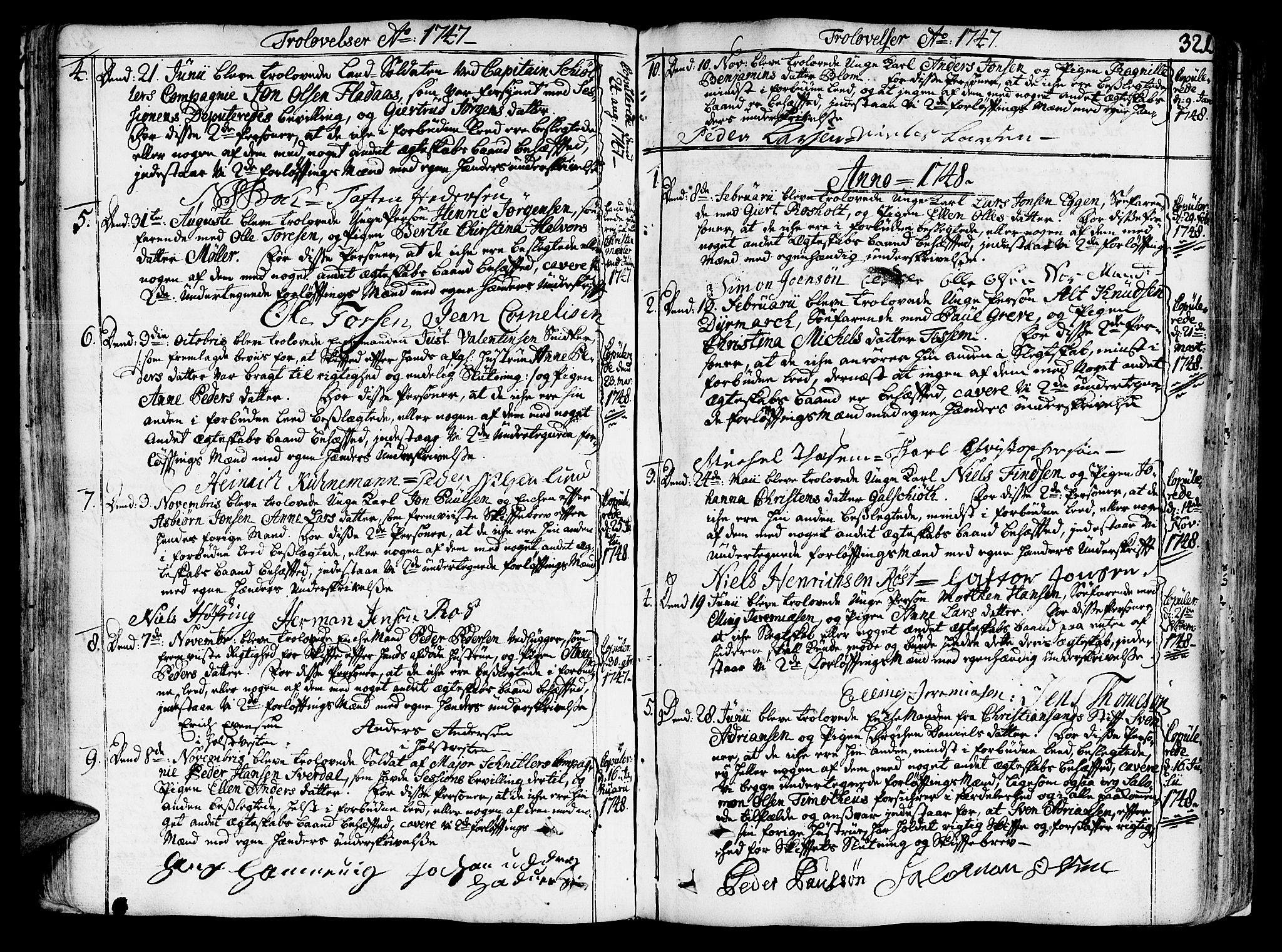SAT, Ministerialprotokoller, klokkerbøker og fødselsregistre - Sør-Trøndelag, 602/L0103: Ministerialbok nr. 602A01, 1732-1774, s. 321