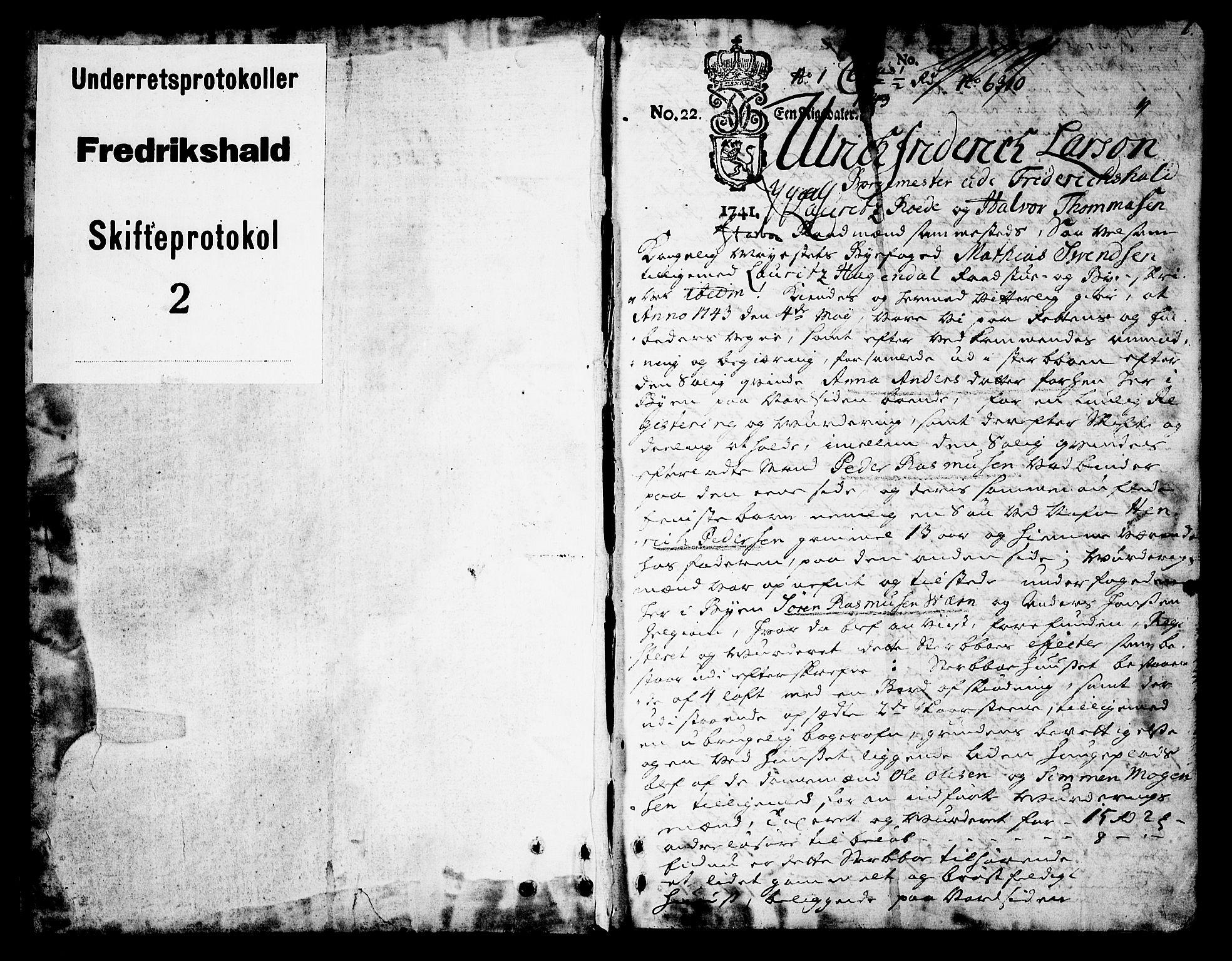 SAO, Halden byfogd, H/Hc/L0002: Skifteprotokoll, 1743-1753, s. 0b-1a