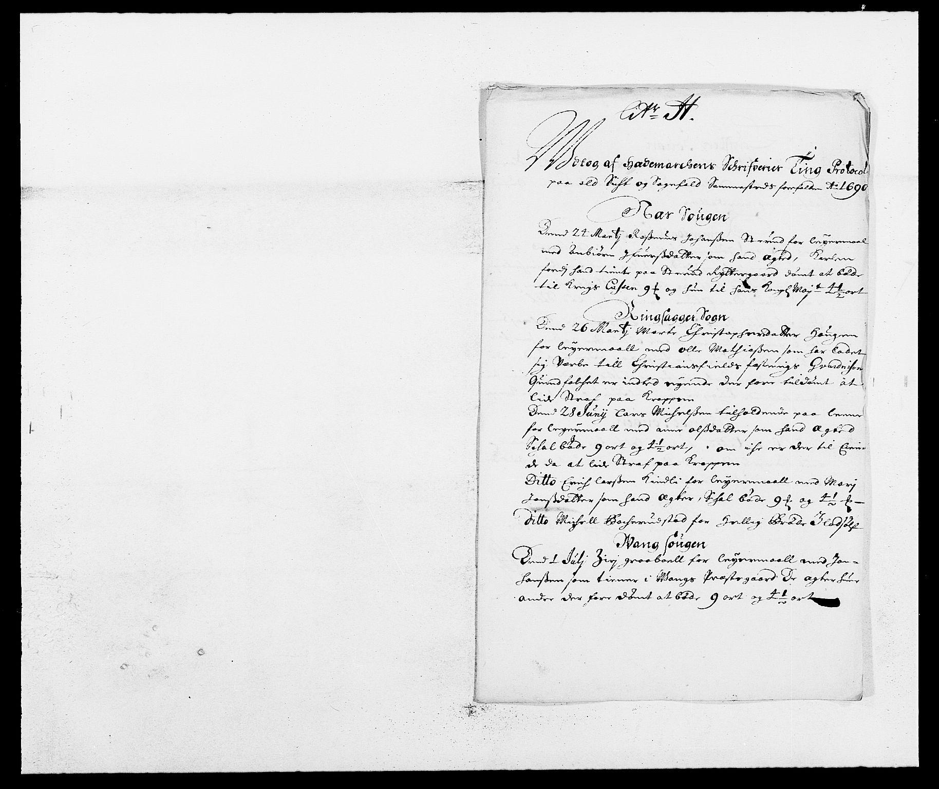RA, Rentekammeret inntil 1814, Reviderte regnskaper, Fogderegnskap, R16/L1030: Fogderegnskap Hedmark, 1689-1691, s. 247