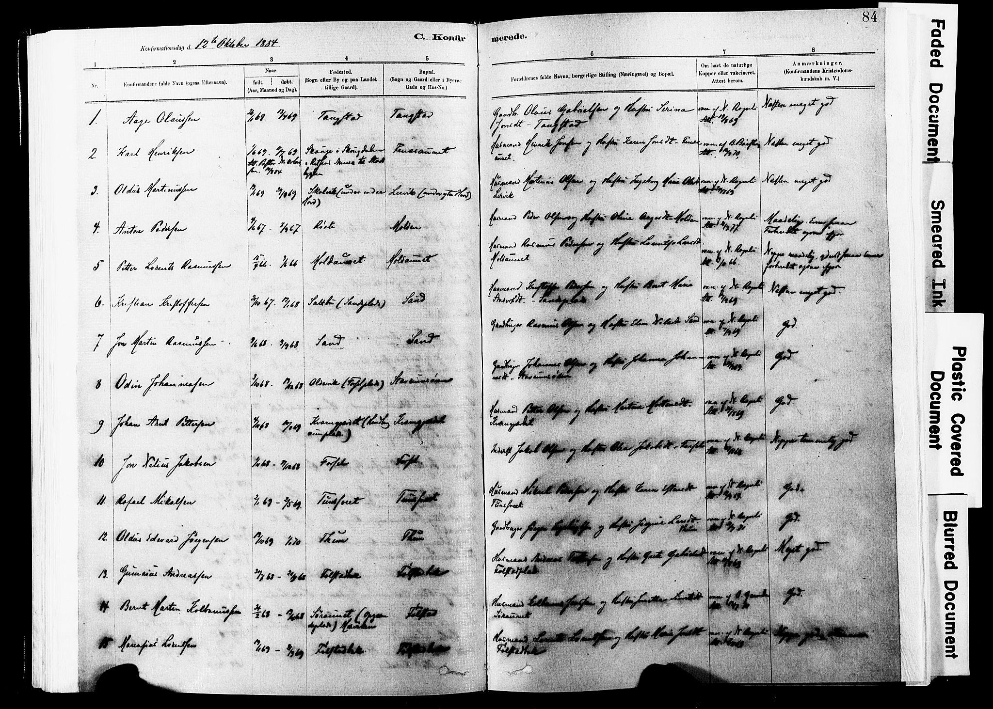 SAT, Ministerialprotokoller, klokkerbøker og fødselsregistre - Nord-Trøndelag, 744/L0420: Ministerialbok nr. 744A04, 1882-1904, s. 84