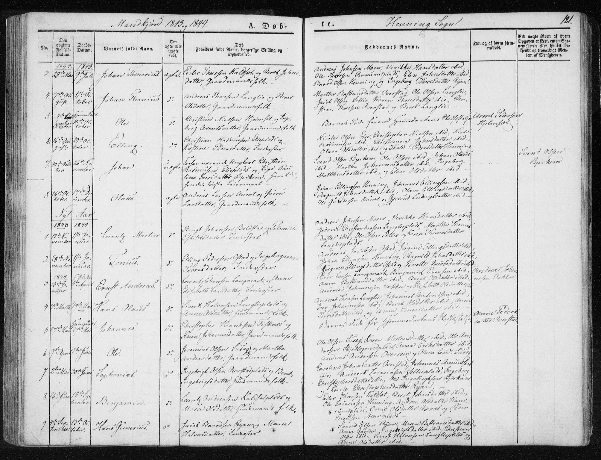 SAT, Ministerialprotokoller, klokkerbøker og fødselsregistre - Nord-Trøndelag, 735/L0339: Ministerialbok nr. 735A06 /3, 1836-1848, s. 121