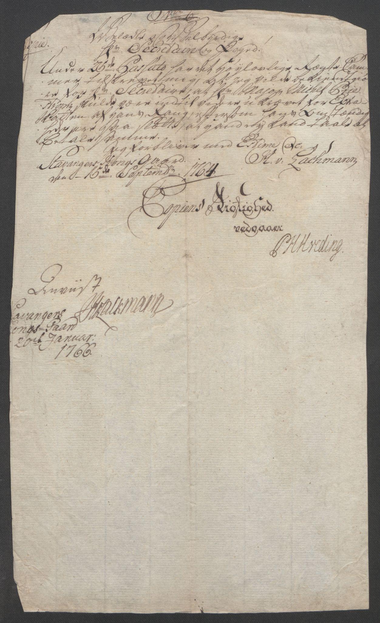 RA, Rentekammeret inntil 1814, Reviderte regnskaper, Fogderegnskap, R46/L2835: Ekstraskatten Jæren og Dalane, 1762-1764, s. 437