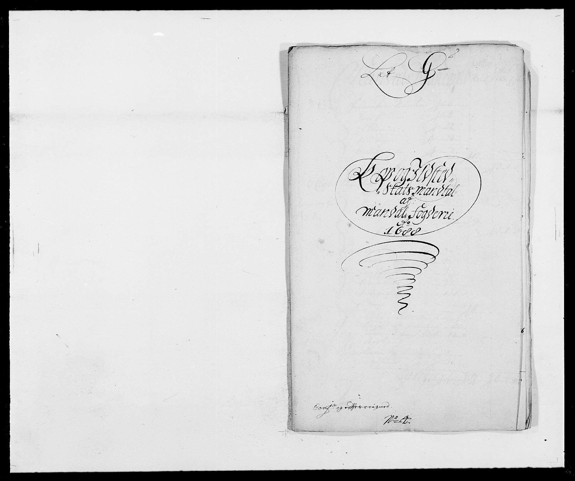 RA, Rentekammeret inntil 1814, Reviderte regnskaper, Fogderegnskap, R42/L2543: Mandal fogderi, 1688-1691, s. 84