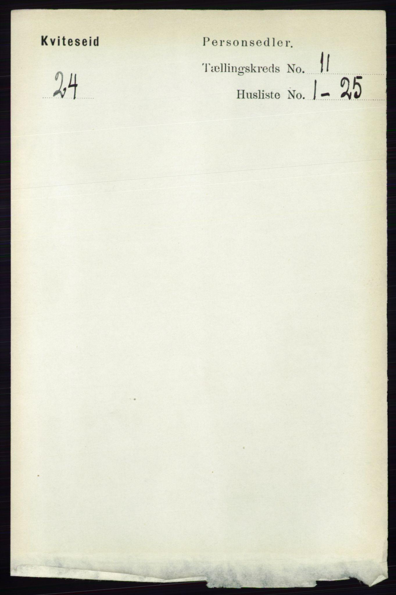 RA, Folketelling 1891 for 0829 Kviteseid herred, 1891, s. 2550