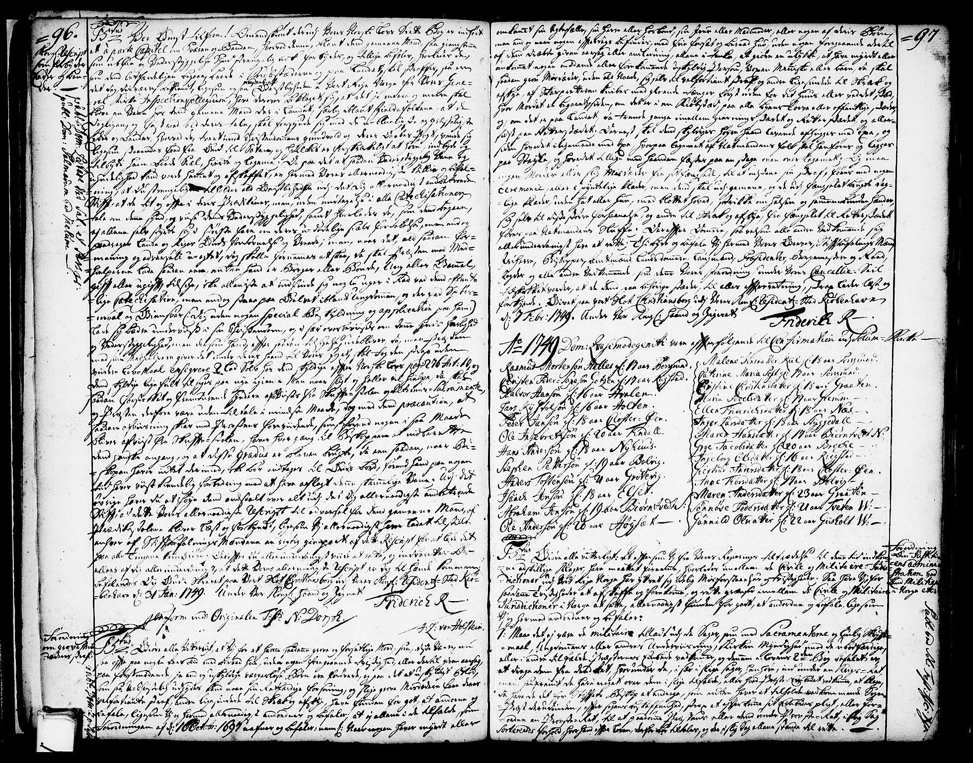 SAKO, Solum kirkebøker, Annen kirkebok nr. ?, 1743-1791, s. 96-97