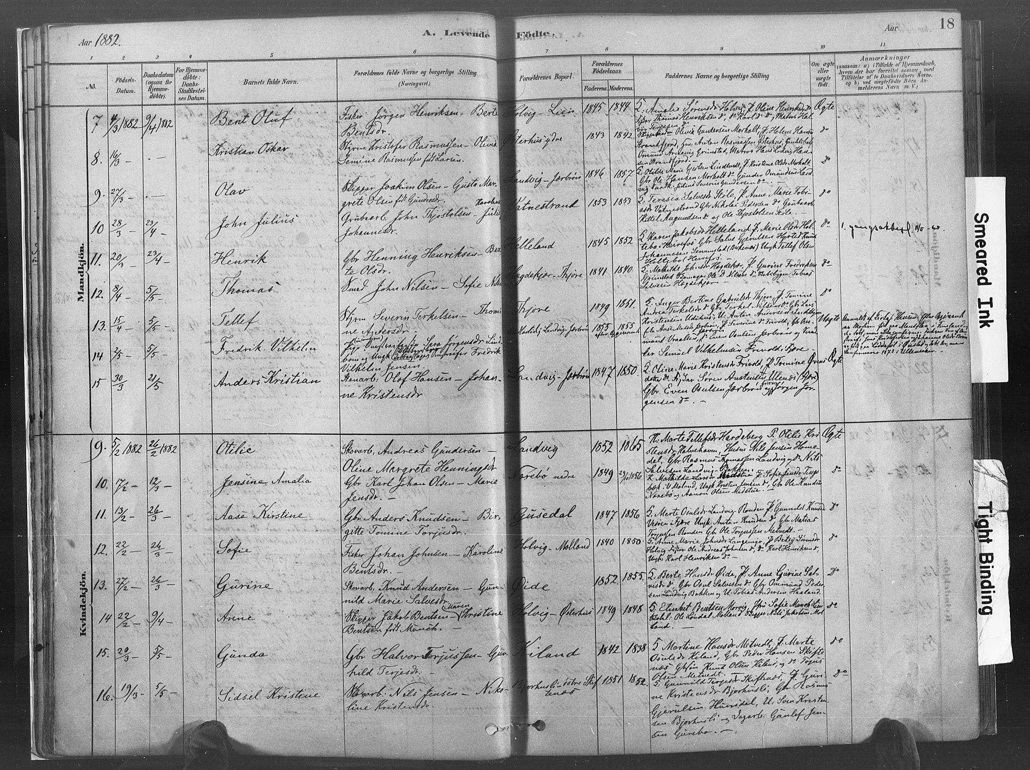 SAK, Hommedal sokneprestkontor, F/Fa/Fab/L0006: Ministerialbok nr. A 6, 1878-1897, s. 18