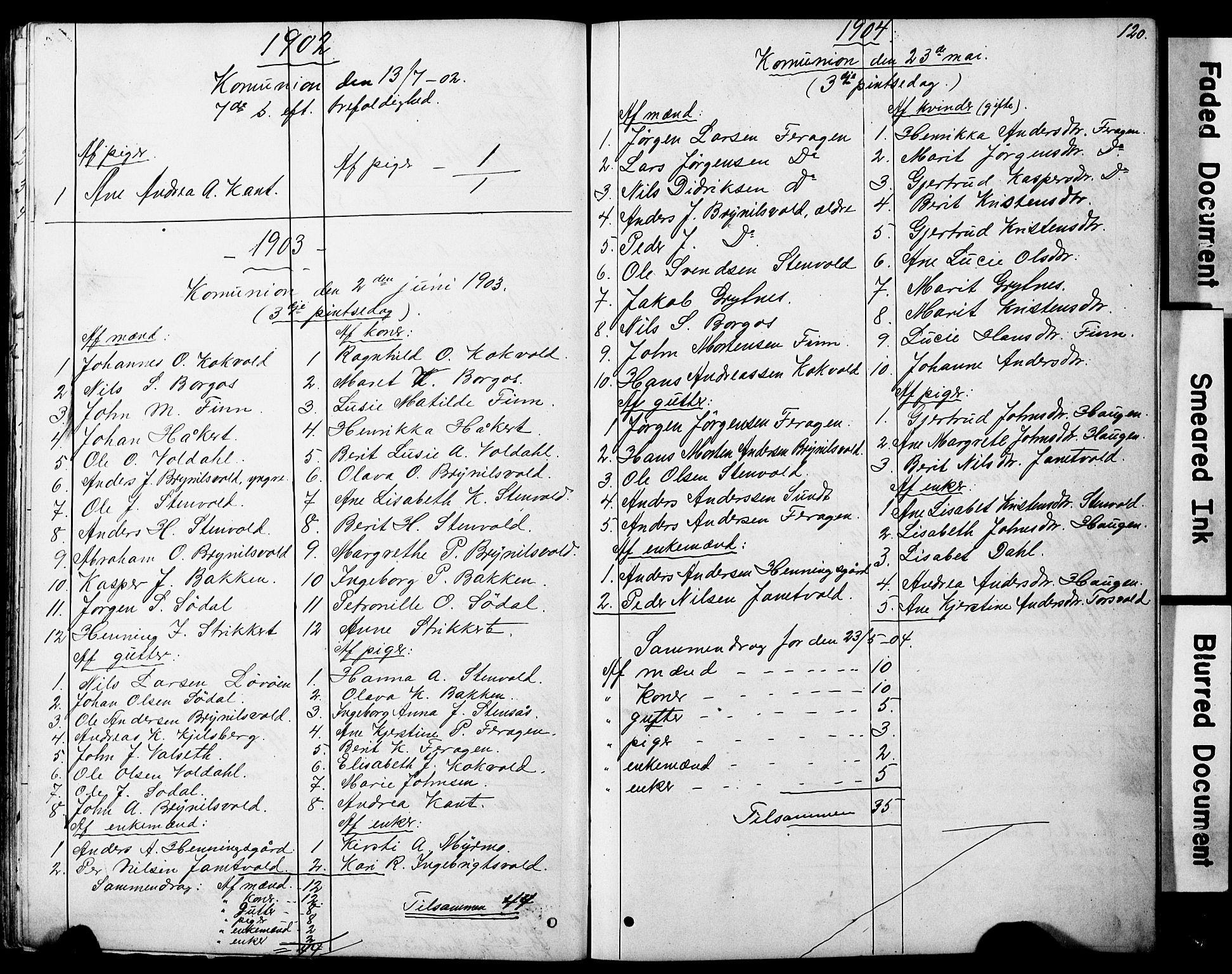 SAT, Ministerialprotokoller, klokkerbøker og fødselsregistre - Sør-Trøndelag, 683/L0949: Klokkerbok nr. 683C01, 1880-1896, s. 120