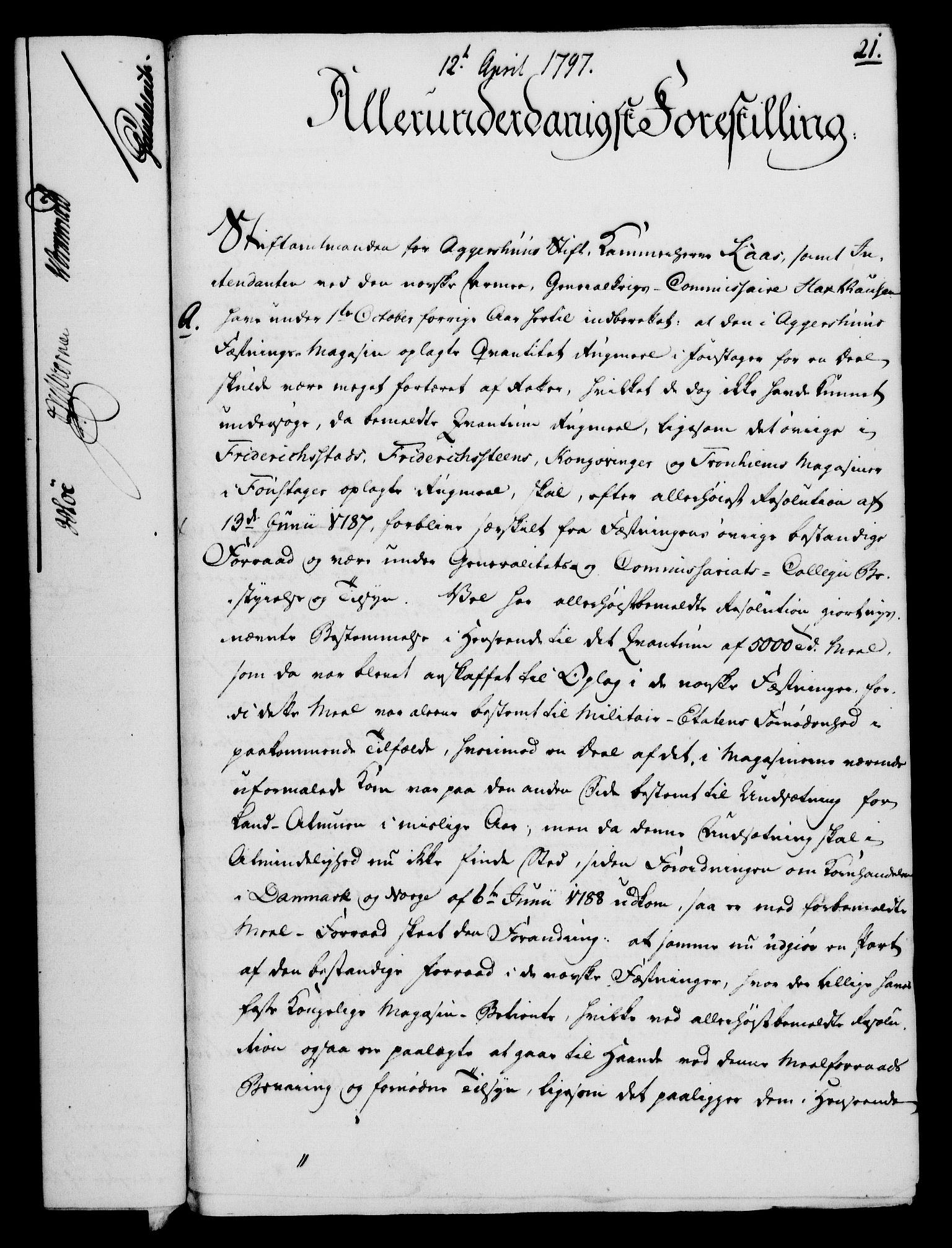 RA, Rentekammeret, Kammerkanselliet, G/Gf/Gfa/L0079: Norsk relasjons- og resolusjonsprotokoll (merket RK 52.79), 1797, s. 138