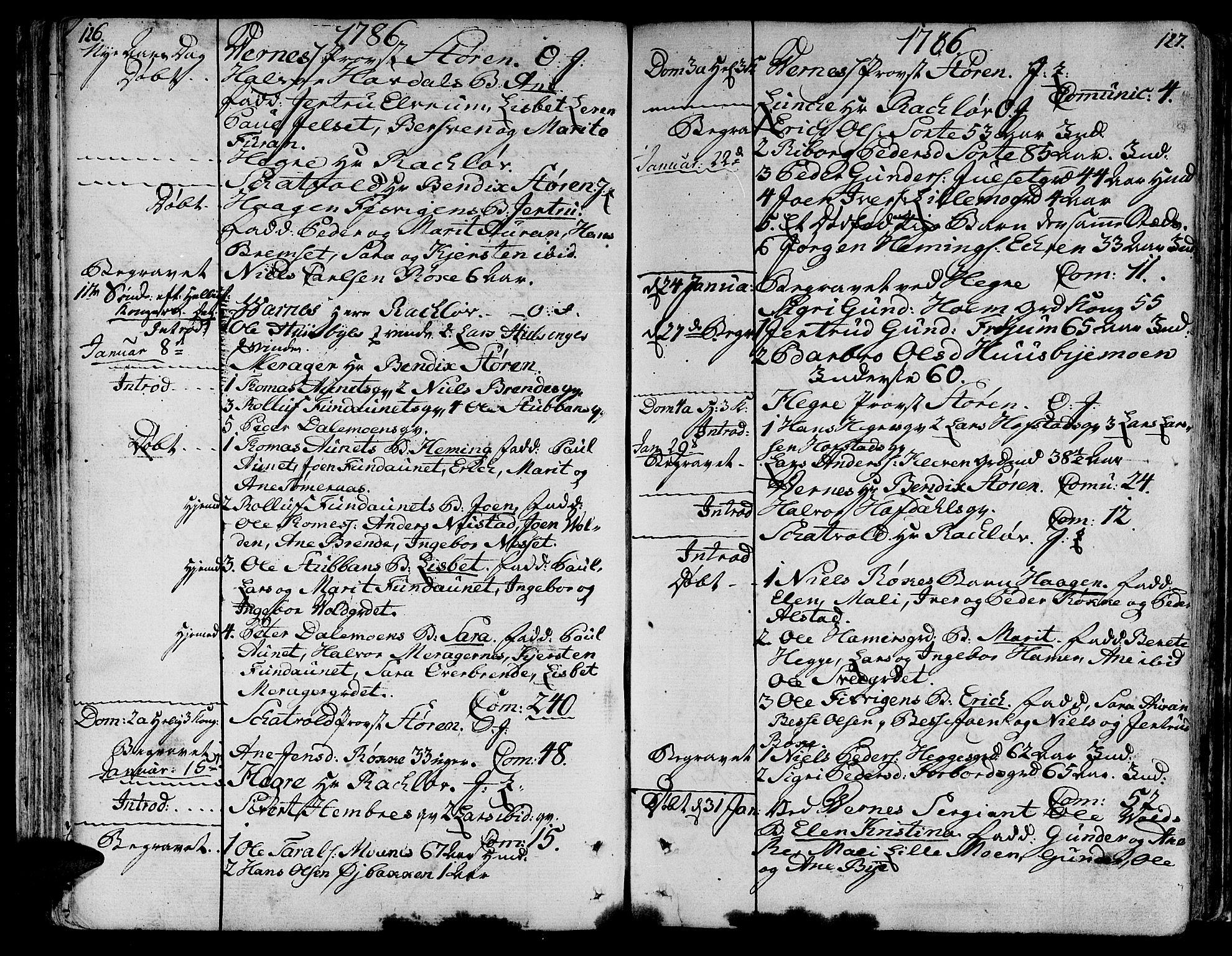 SAT, Ministerialprotokoller, klokkerbøker og fødselsregistre - Nord-Trøndelag, 709/L0059: Ministerialbok nr. 709A06, 1781-1797, s. 126-127