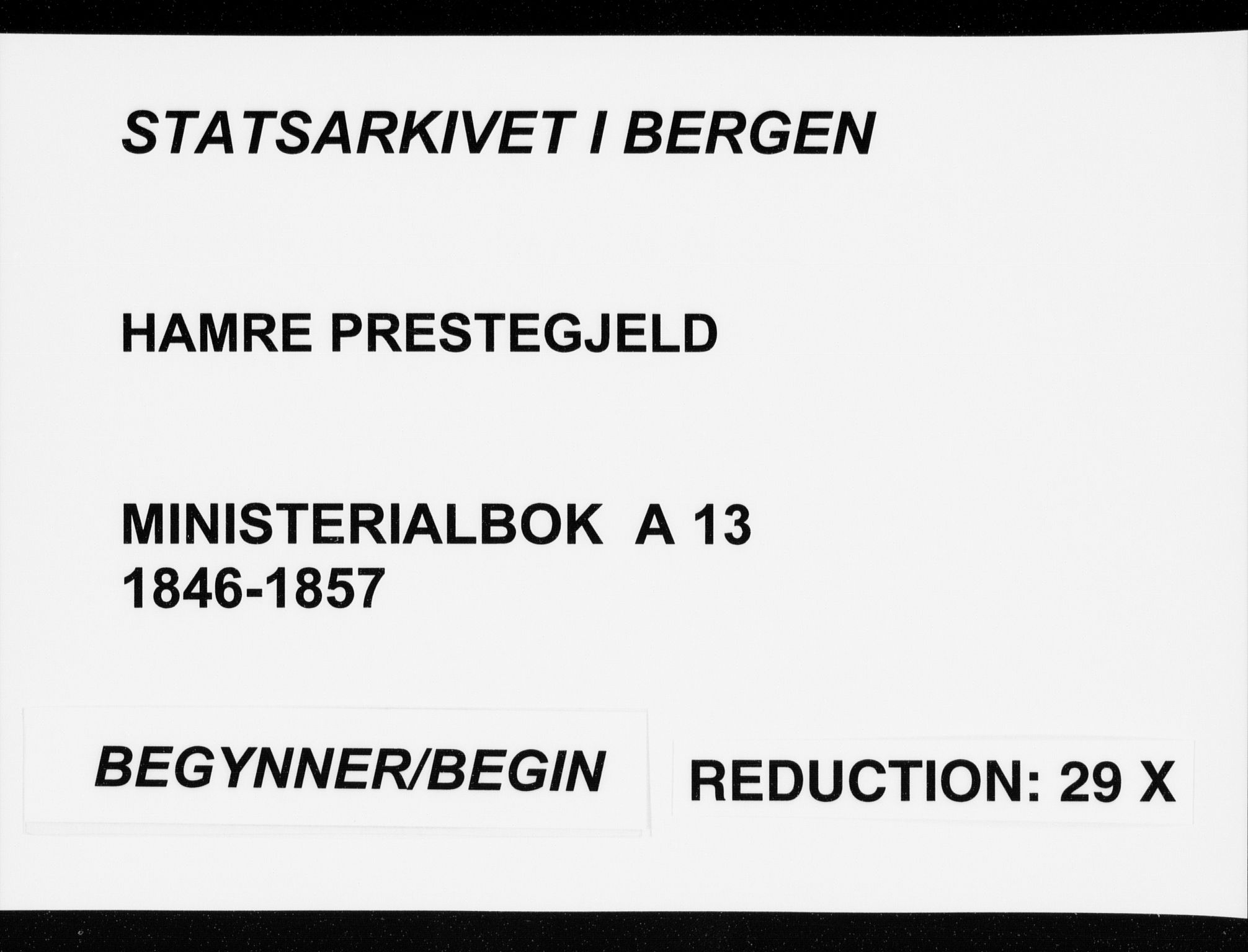 SAB, Hamre sokneprestembete, H/Ha/Haa/Haaa/L0013: Ministerialbok nr. A 13, 1846-1857