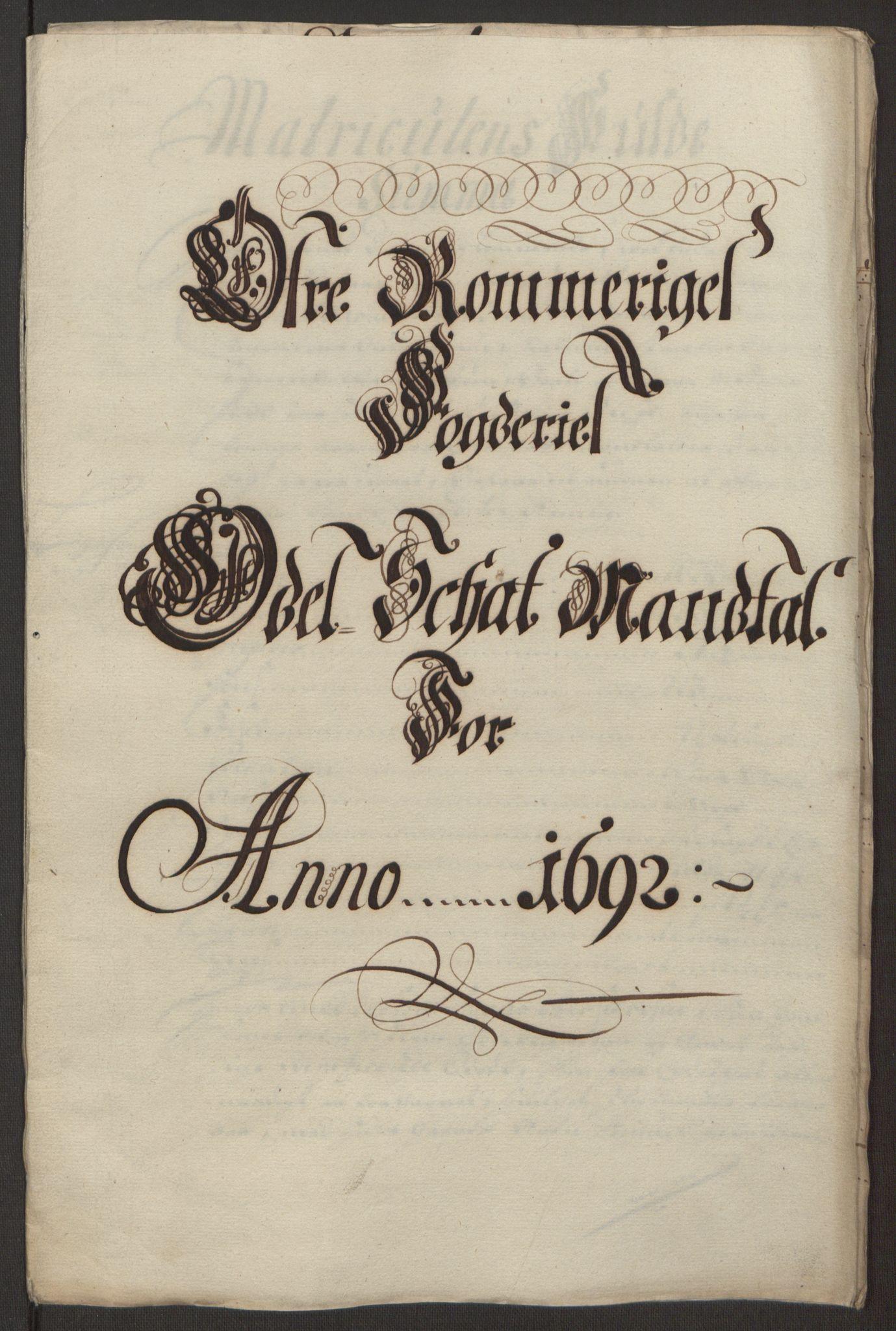 RA, Rentekammeret inntil 1814, Reviderte regnskaper, Fogderegnskap, R12/L0704: Fogderegnskap Øvre Romerike, 1692, s. 212