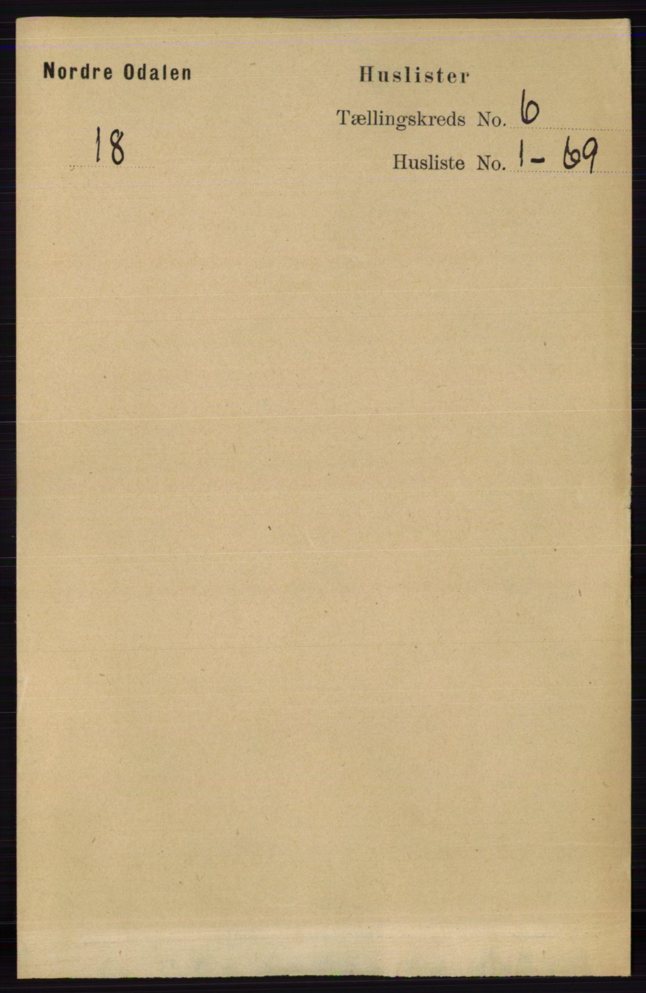 RA, Folketelling 1891 for 0418 Nord-Odal herred, 1891, s. 2201