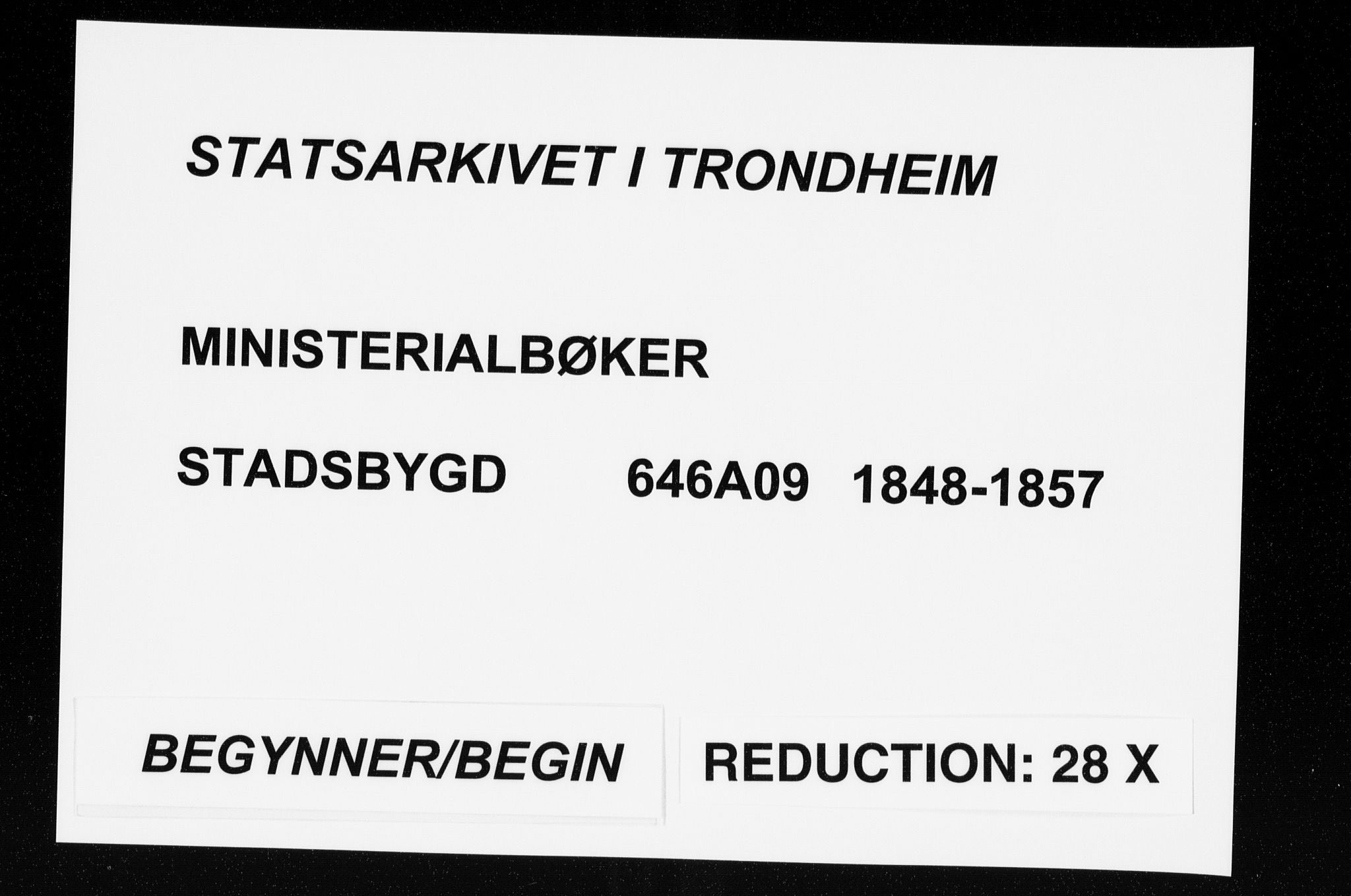SAT, Ministerialprotokoller, klokkerbøker og fødselsregistre - Sør-Trøndelag, 646/L0611: Ministerialbok nr. 646A09, 1848-1857