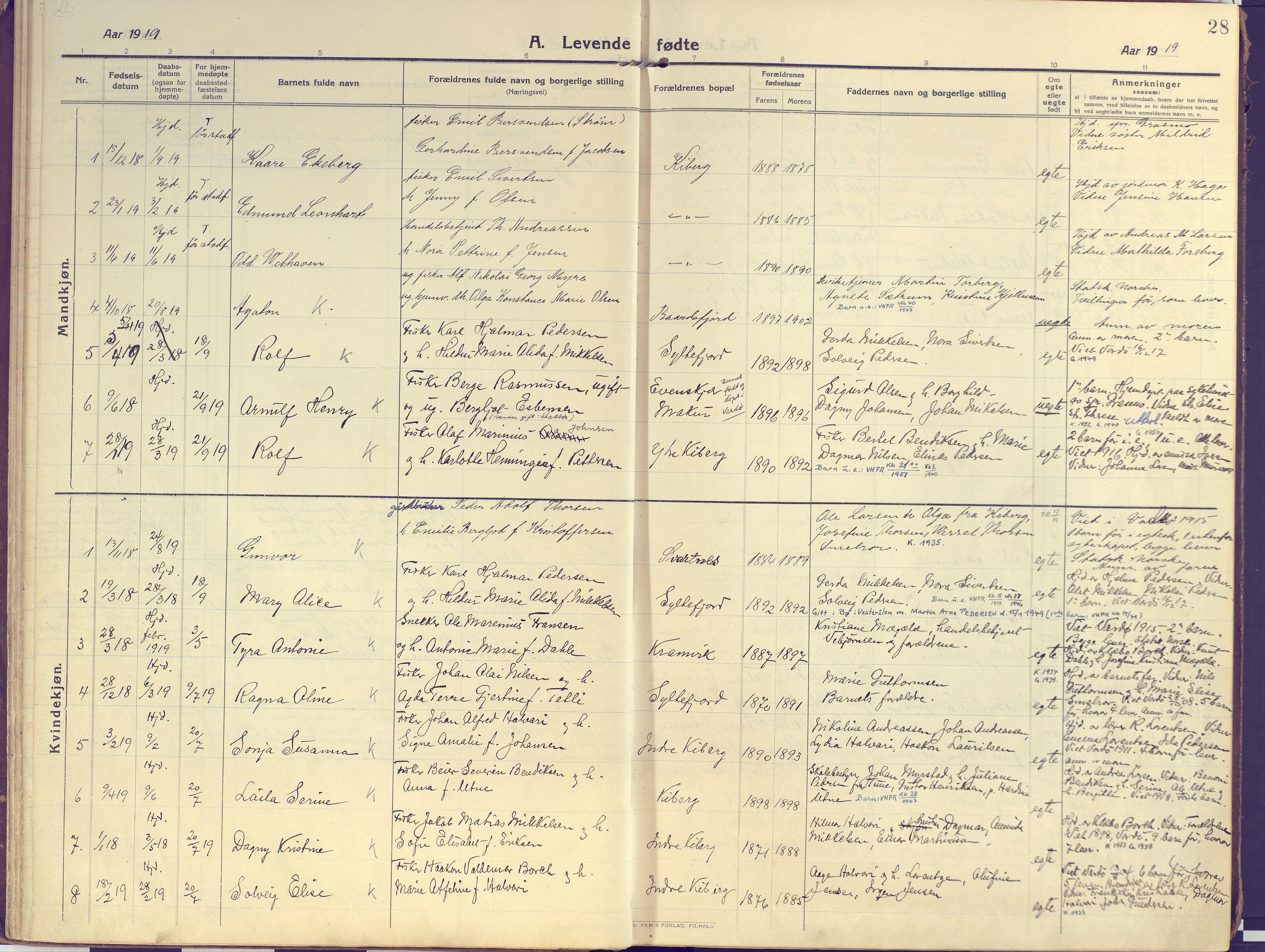 SATØ, Vardø sokneprestkontor, H/Ha/L0013kirke: Ministerialbok nr. 13, 1912-1928, s. 28