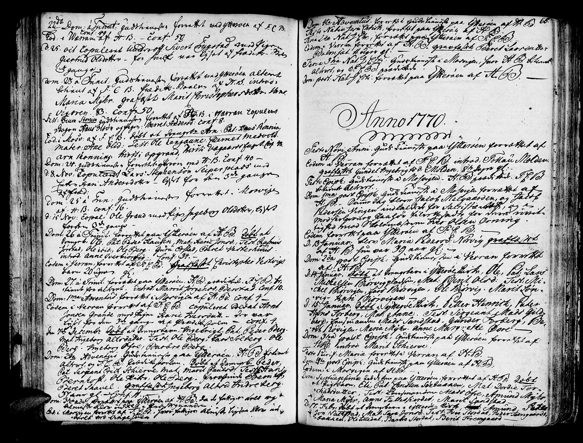 SAT, Ministerialprotokoller, klokkerbøker og fødselsregistre - Nord-Trøndelag, 722/L0216: Ministerialbok nr. 722A03, 1756-1816, s. 66