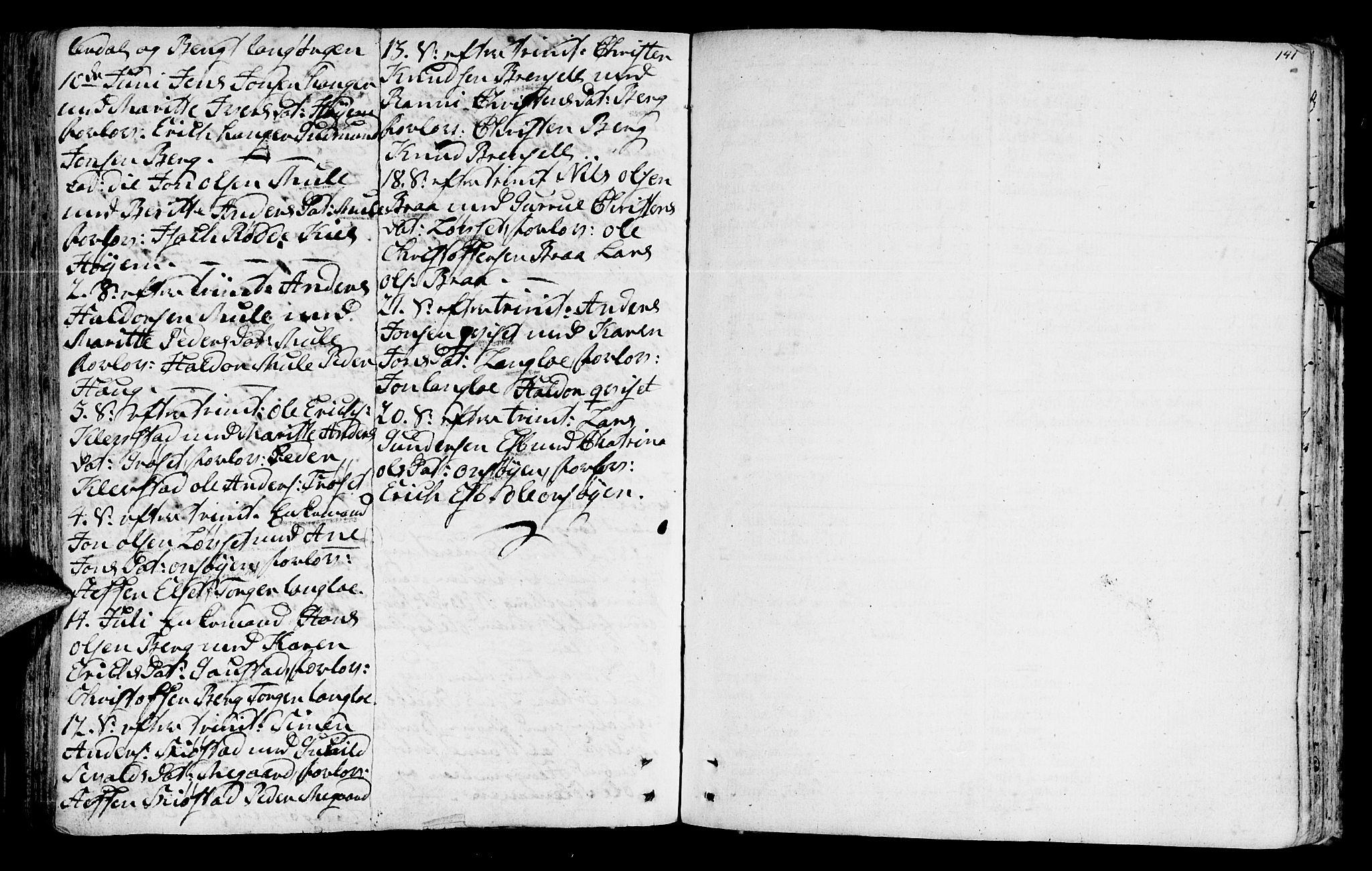 SAT, Ministerialprotokoller, klokkerbøker og fødselsregistre - Sør-Trøndelag, 612/L0370: Ministerialbok nr. 612A04, 1754-1802, s. 141