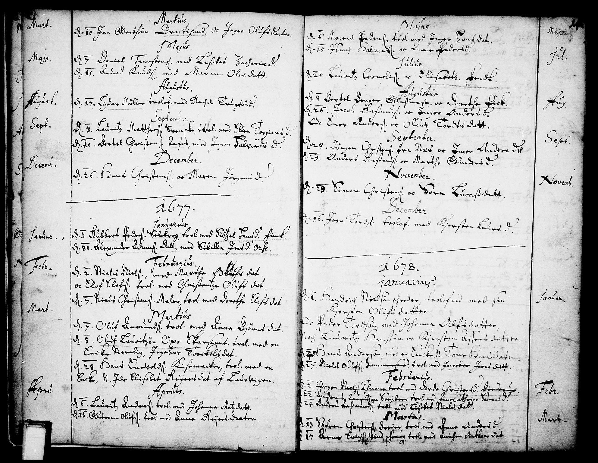 SAKO, Skien kirkebøker, F/Fa/L0001: Ministerialbok nr. 1, 1659-1679, s. 14