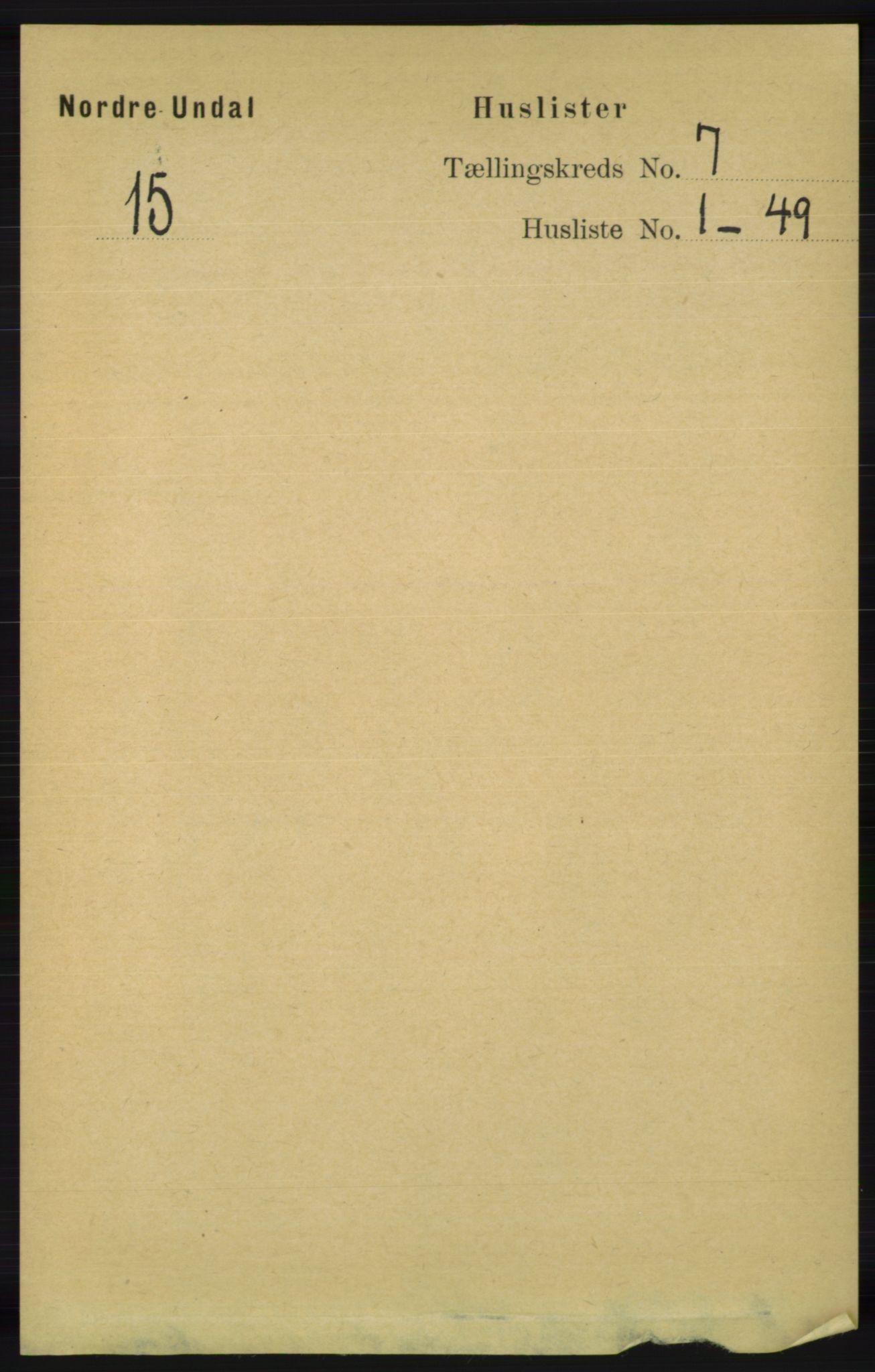 RA, Folketelling 1891 for 1028 Nord-Audnedal herred, 1891, s. 1732
