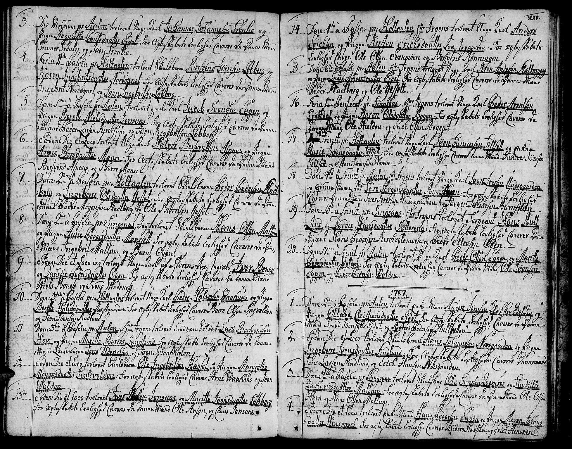 SAT, Ministerialprotokoller, klokkerbøker og fødselsregistre - Sør-Trøndelag, 685/L0952: Ministerialbok nr. 685A01, 1745-1804, s. 118