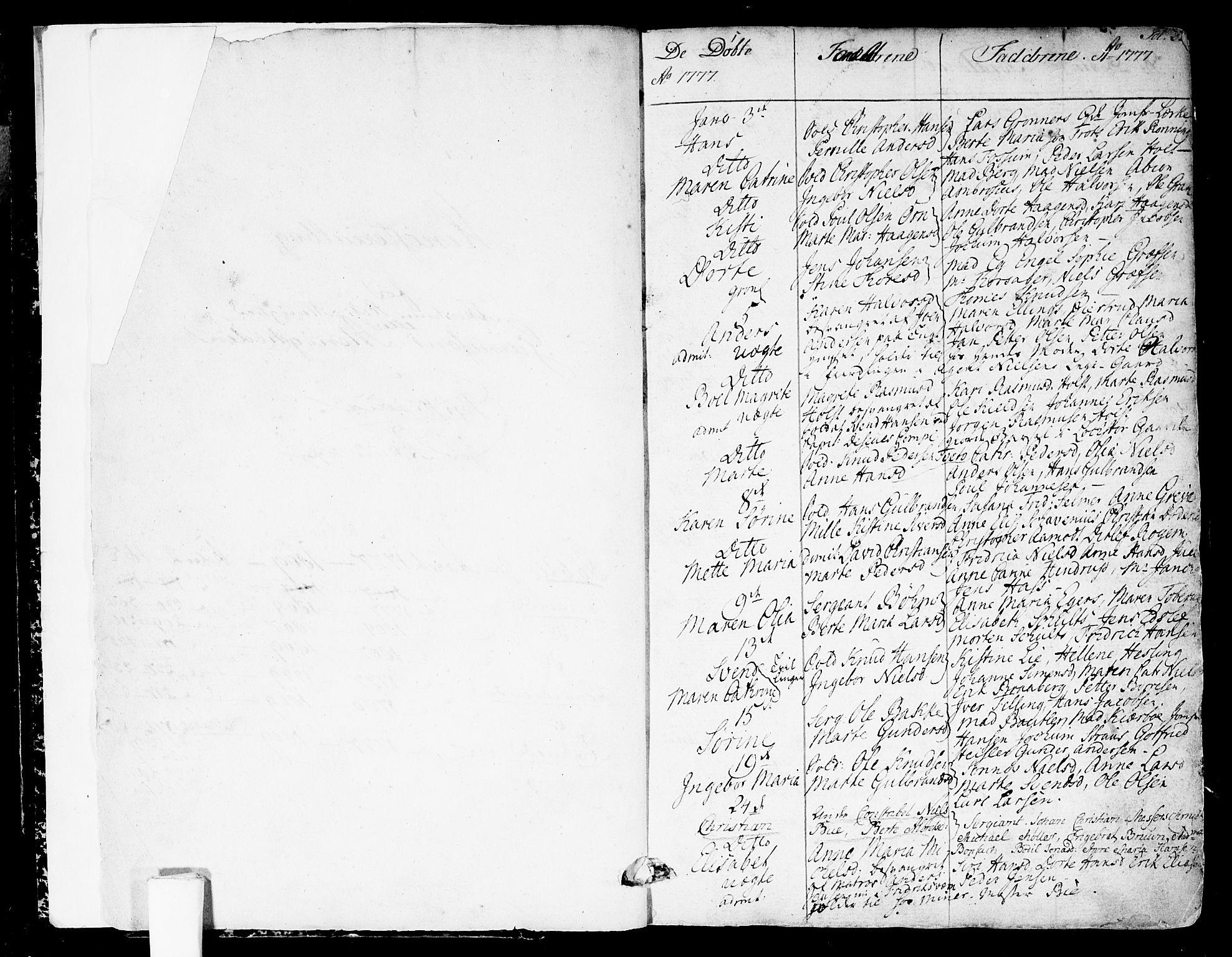 SAO, Garnisonsmenigheten Kirkebøker, F/Fa/L0003: Ministerialbok nr. 3, 1777-1809, s. 2