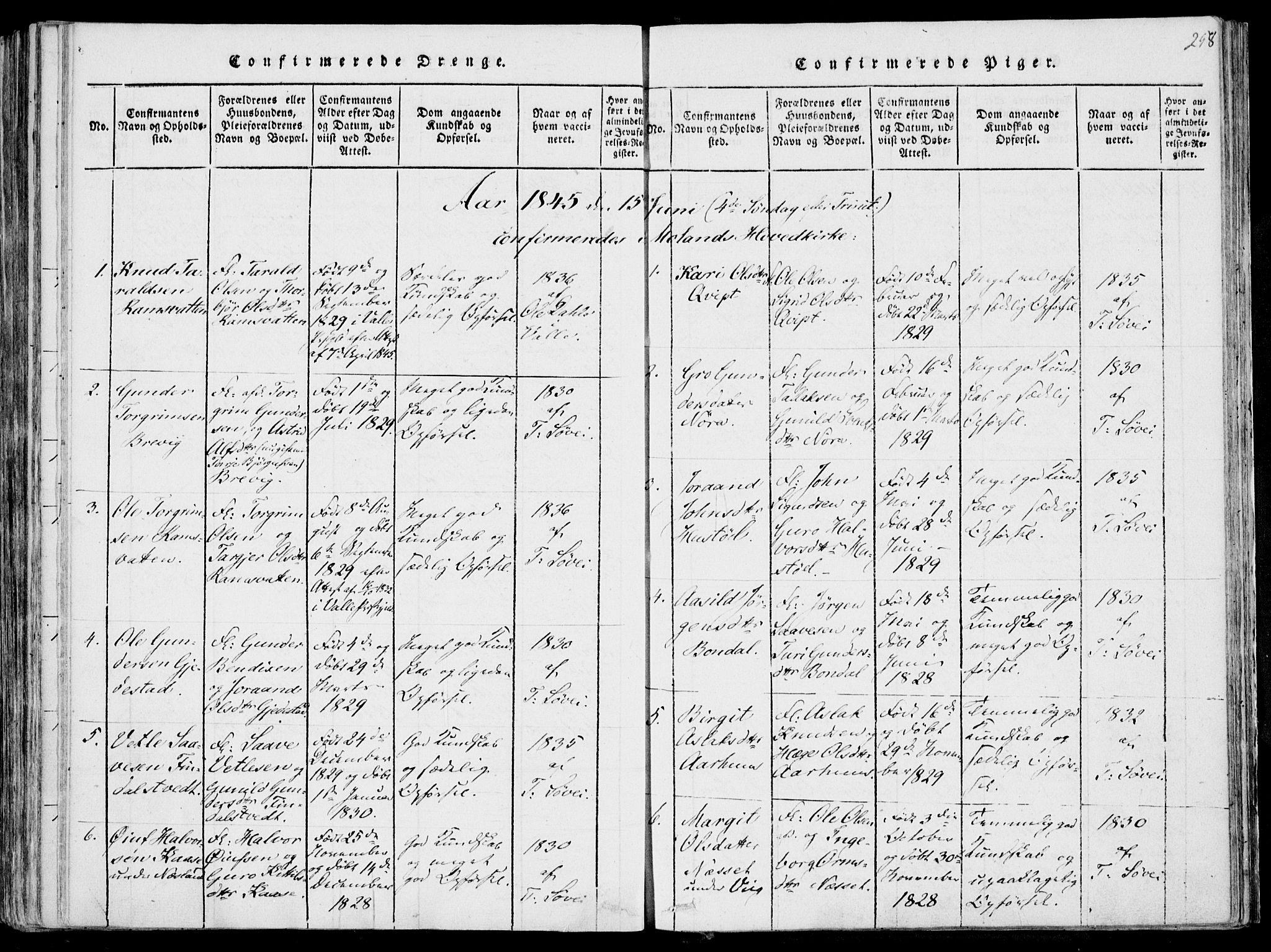 SAKO, Fyresdal kirkebøker, F/Fa/L0004: Ministerialbok nr. I 4, 1815-1854, s. 258