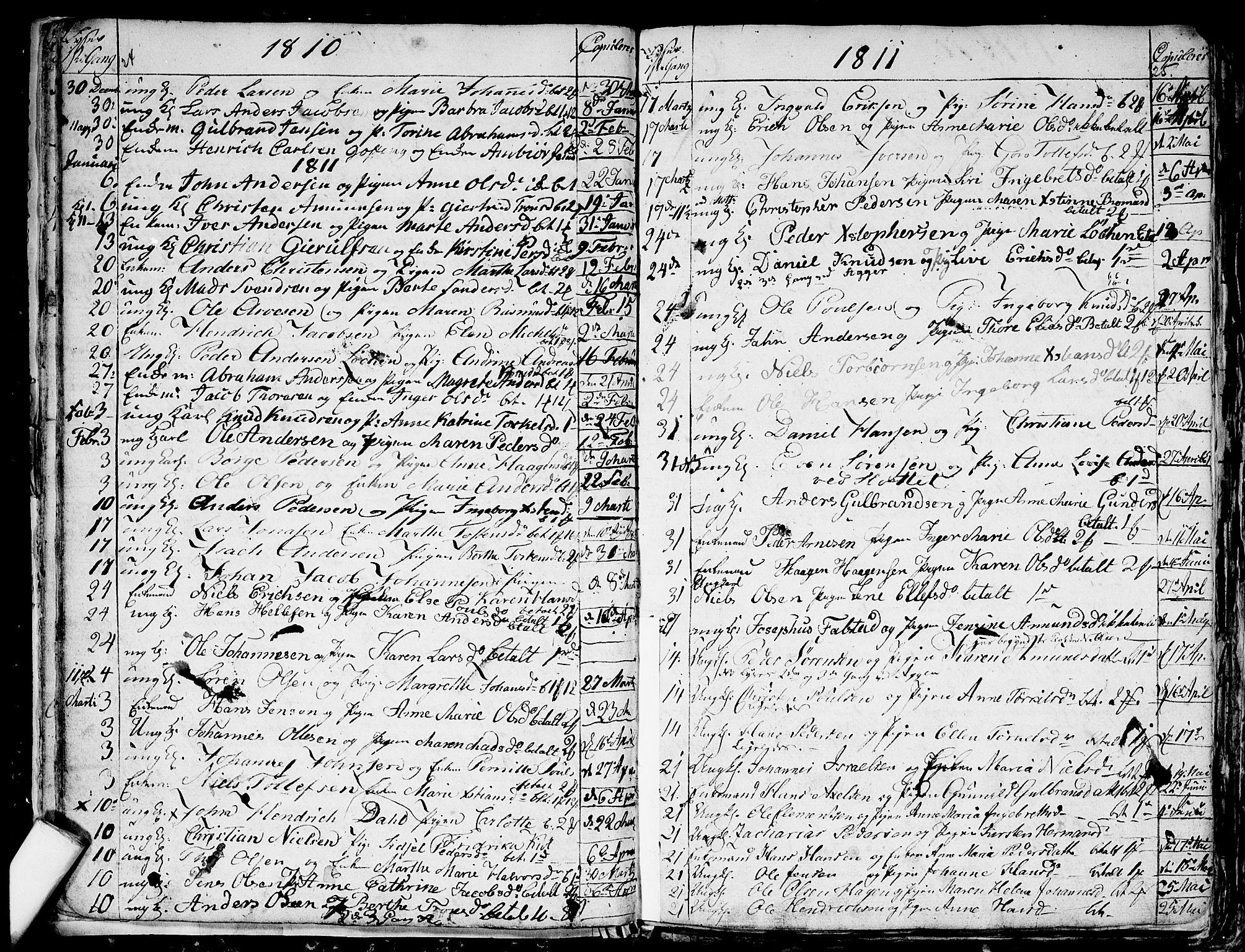 SAO, Aker prestekontor kirkebøker, G/L0001: Klokkerbok nr. 1, 1796-1826, s. 24-25
