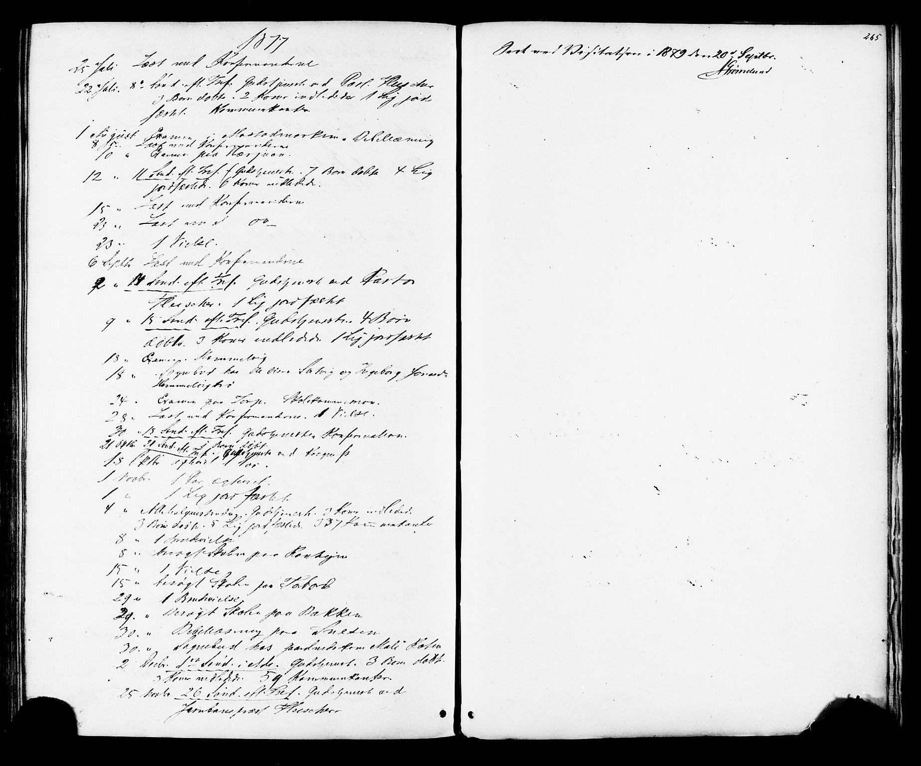 SAT, Ministerialprotokoller, klokkerbøker og fødselsregistre - Sør-Trøndelag, 616/L0409: Ministerialbok nr. 616A06, 1865-1877, s. 265