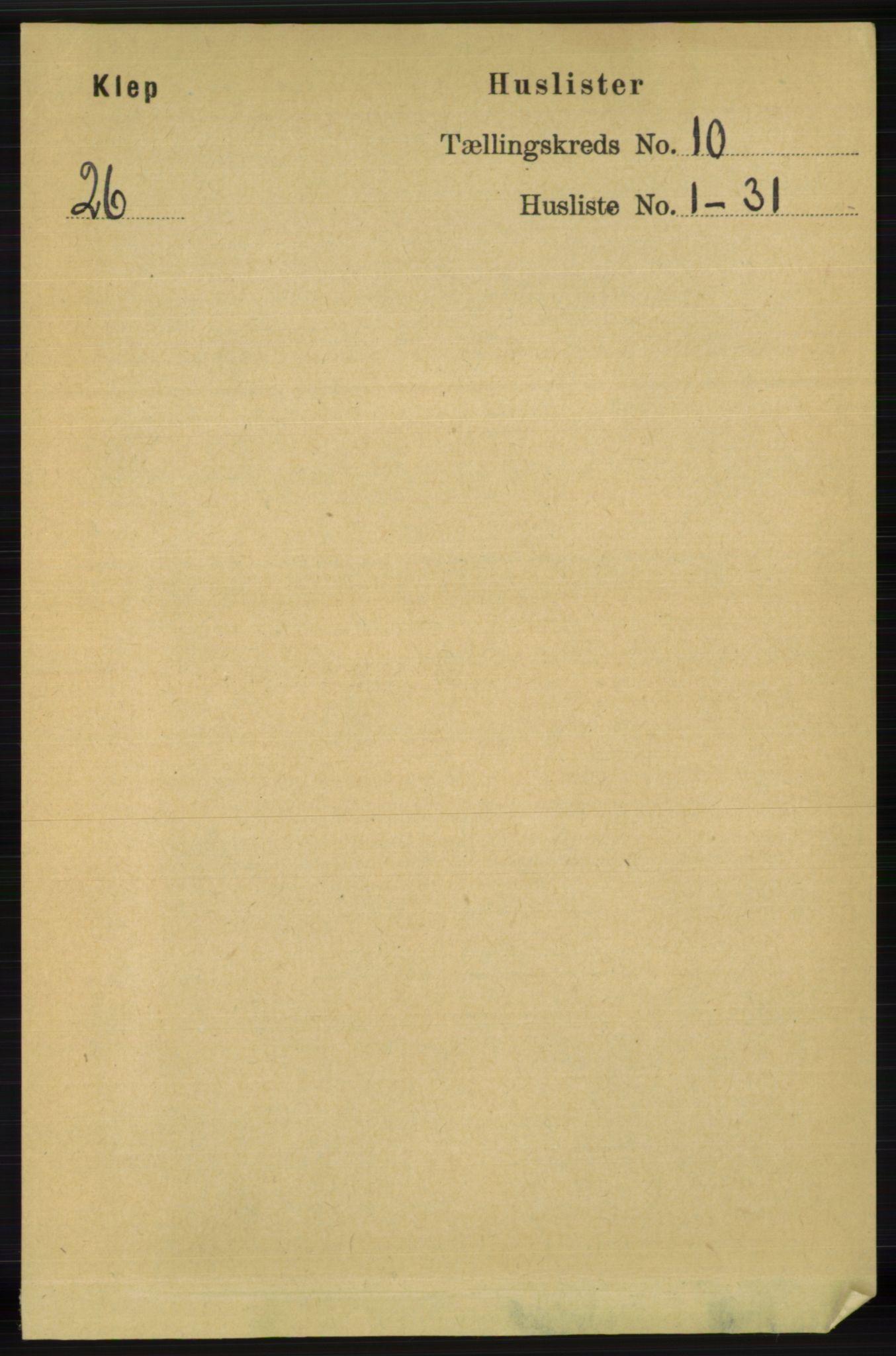 RA, Folketelling 1891 for 1120 Klepp herred, 1891, s. 2818
