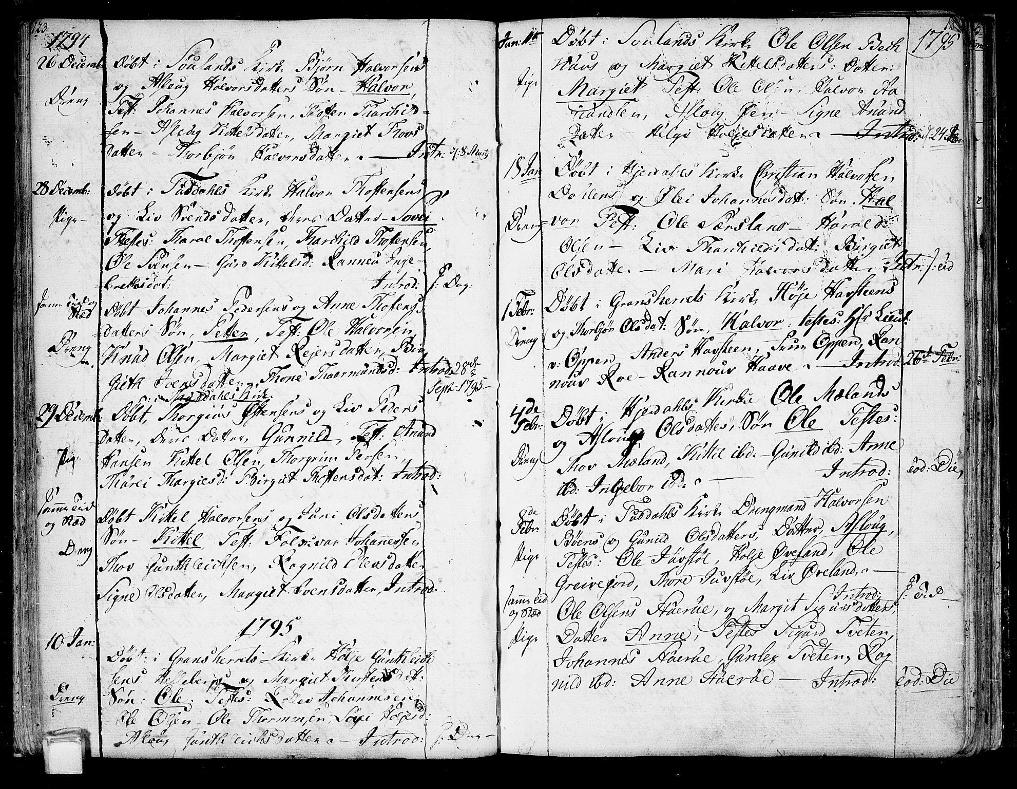 SAKO, Hjartdal kirkebøker, F/Fa/L0005: Ministerialbok nr. I 5, 1776-1801, s. 123-124