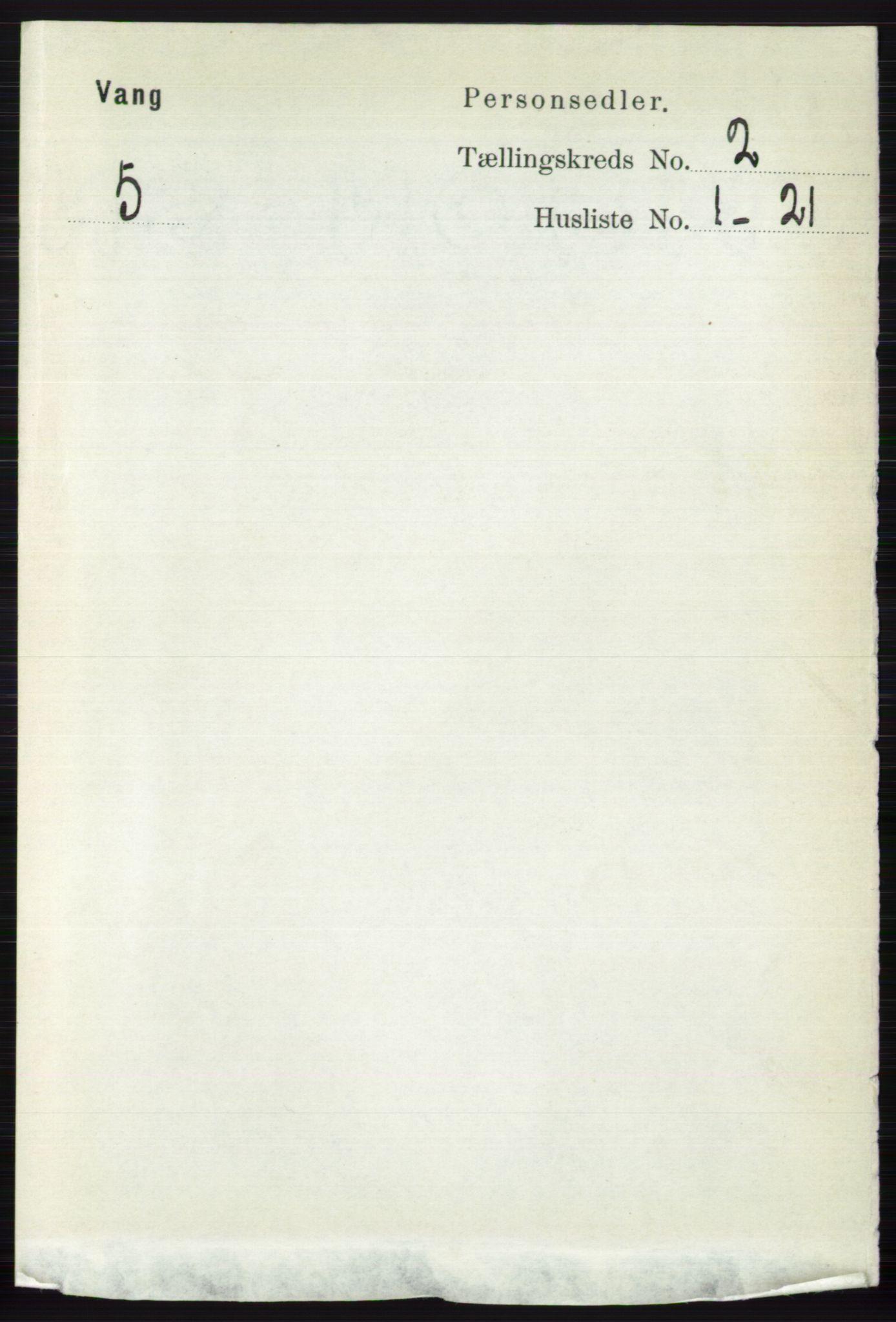 RA, Folketelling 1891 for 0545 Vang herred, 1891, s. 393