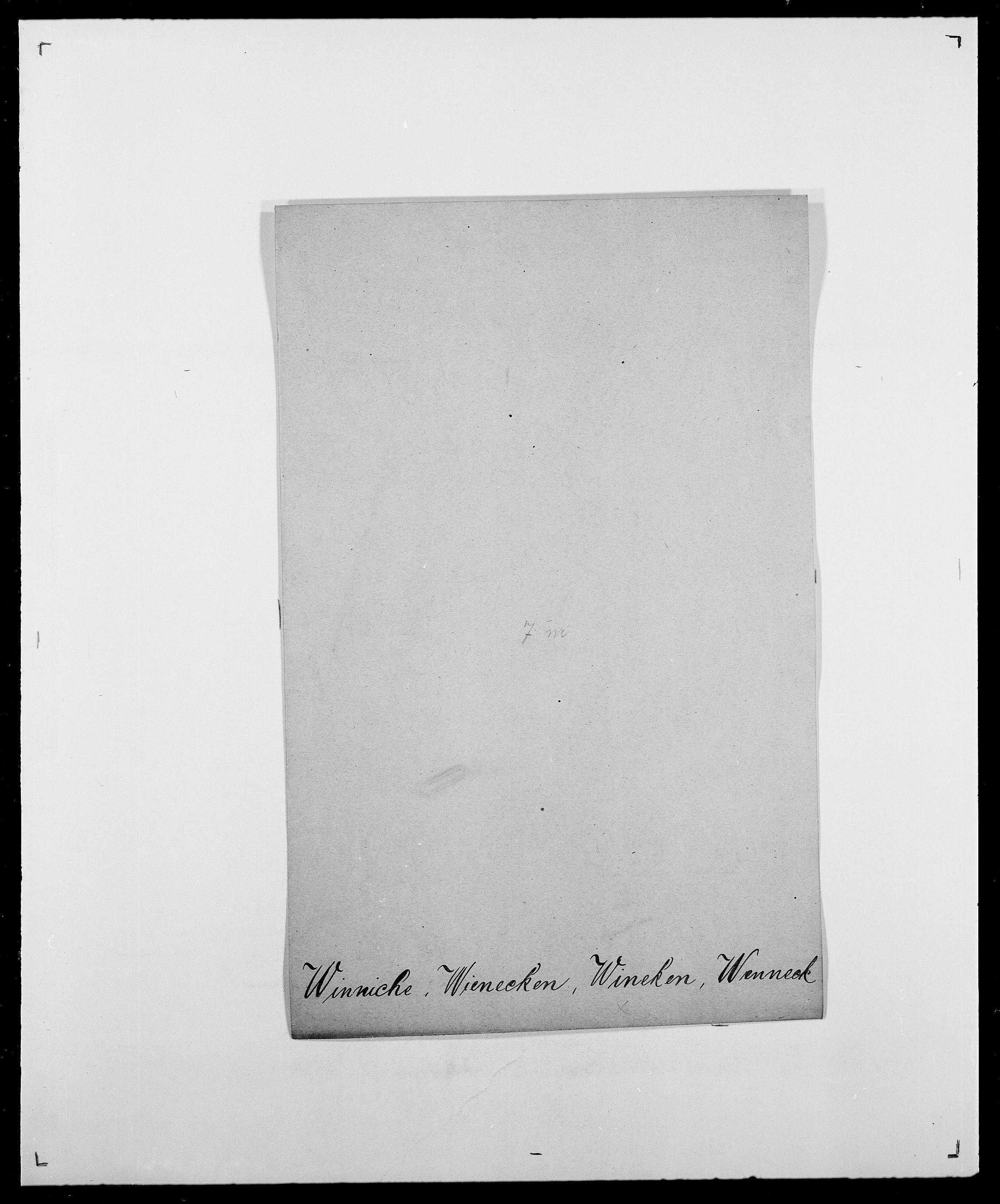 SAO, Delgobe, Charles Antoine - samling, D/Da/L0042: Vilain - Wulf, Wulff, se også Wolf, s. 253