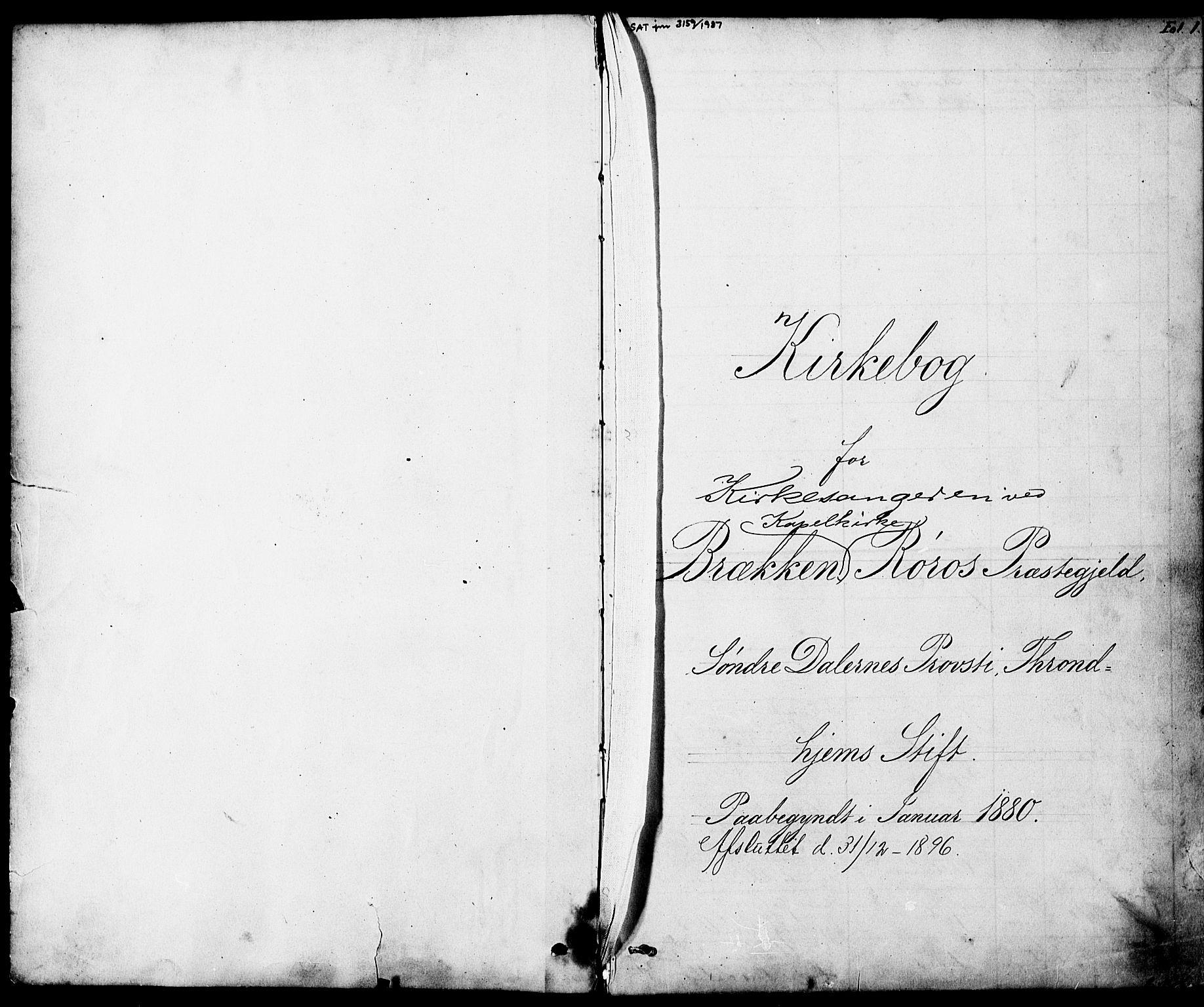 SAT, Ministerialprotokoller, klokkerbøker og fødselsregistre - Sør-Trøndelag, 683/L0949: Klokkerbok nr. 683C01, 1880-1896, s. 1
