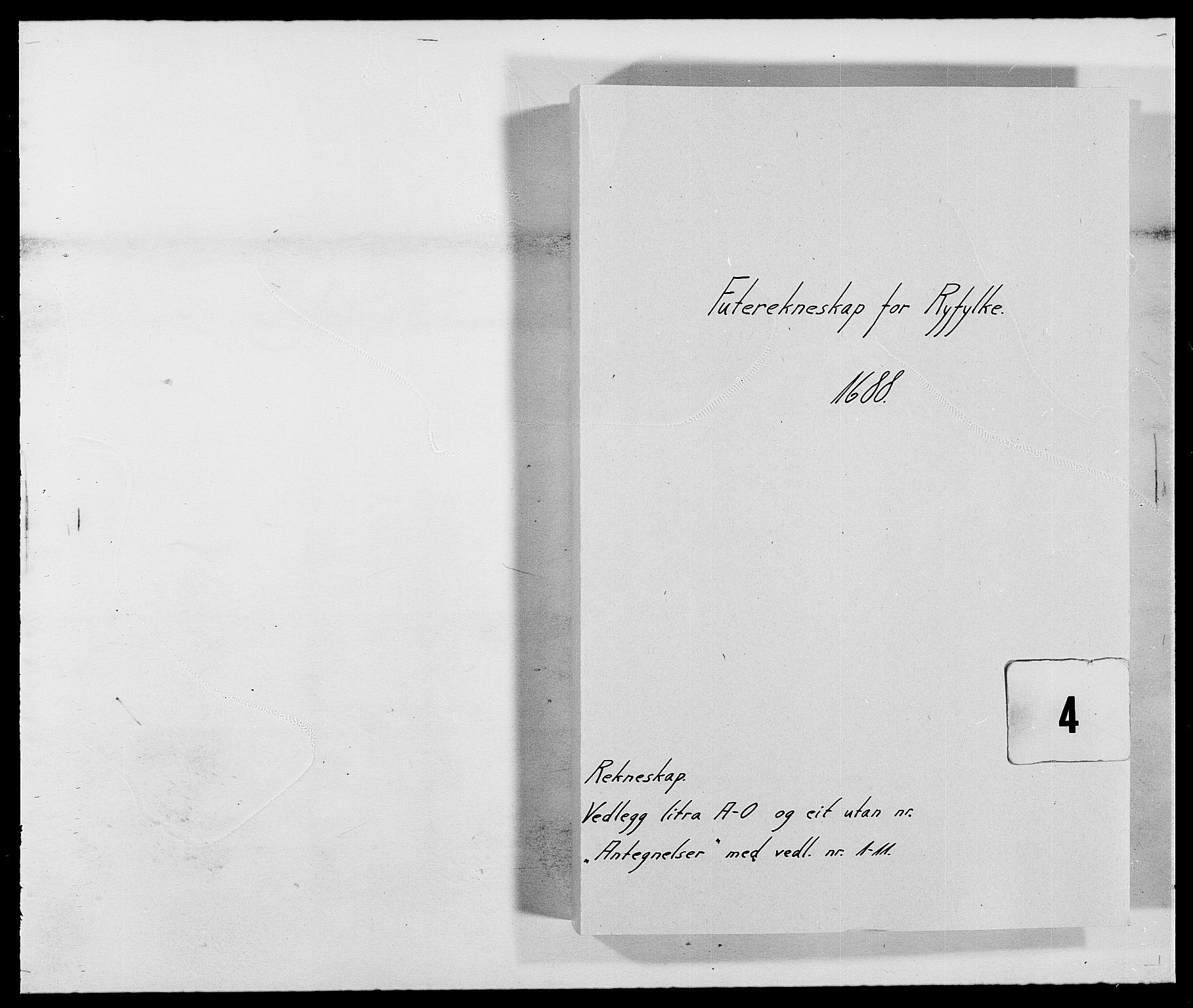 RA, Rentekammeret inntil 1814, Reviderte regnskaper, Fogderegnskap, R47/L2855: Fogderegnskap Ryfylke, 1685-1688, s. 330