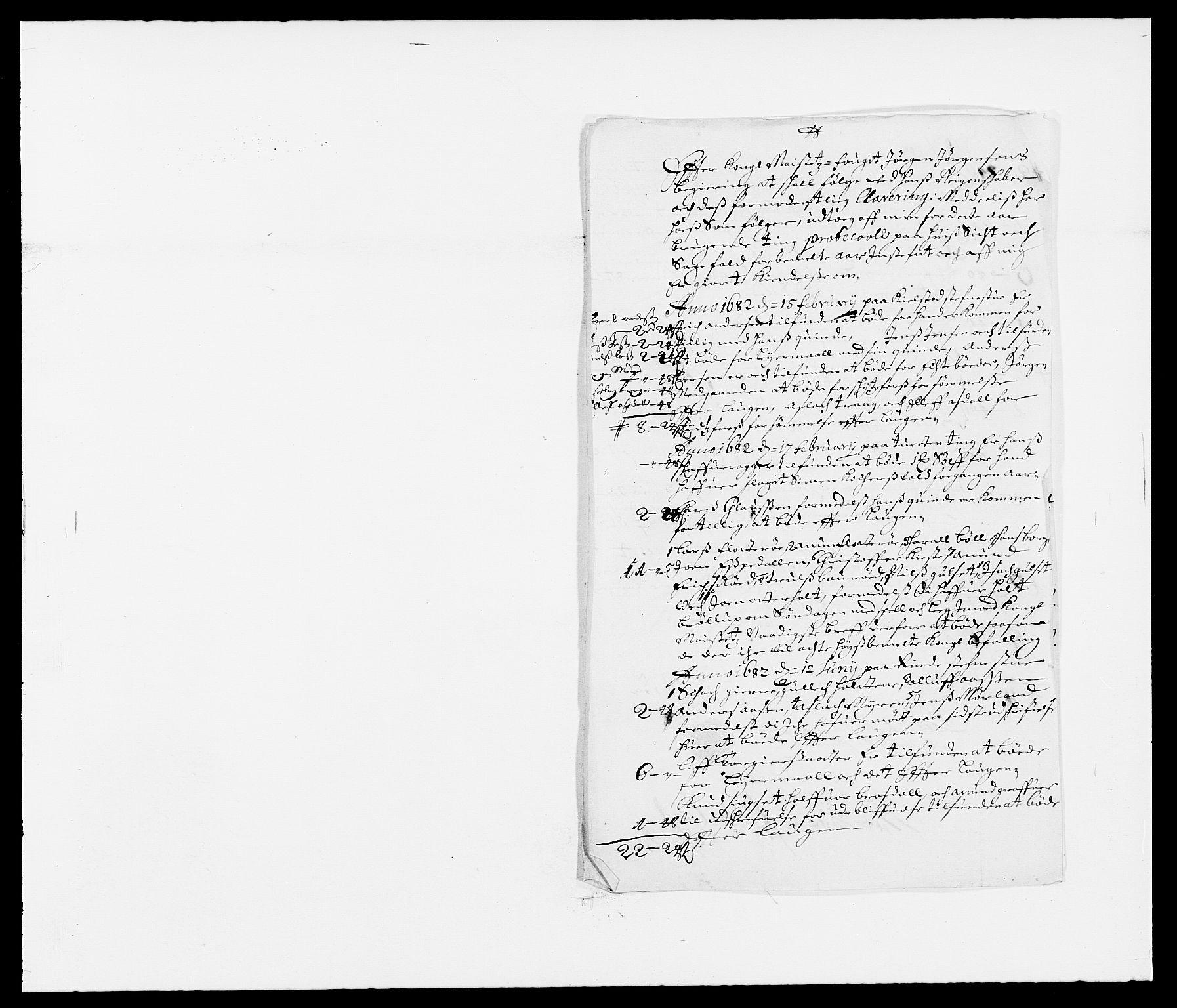 RA, Rentekammeret inntil 1814, Reviderte regnskaper, Fogderegnskap, R34/L2046: Fogderegnskap Bamble, 1682-1683, s. 46
