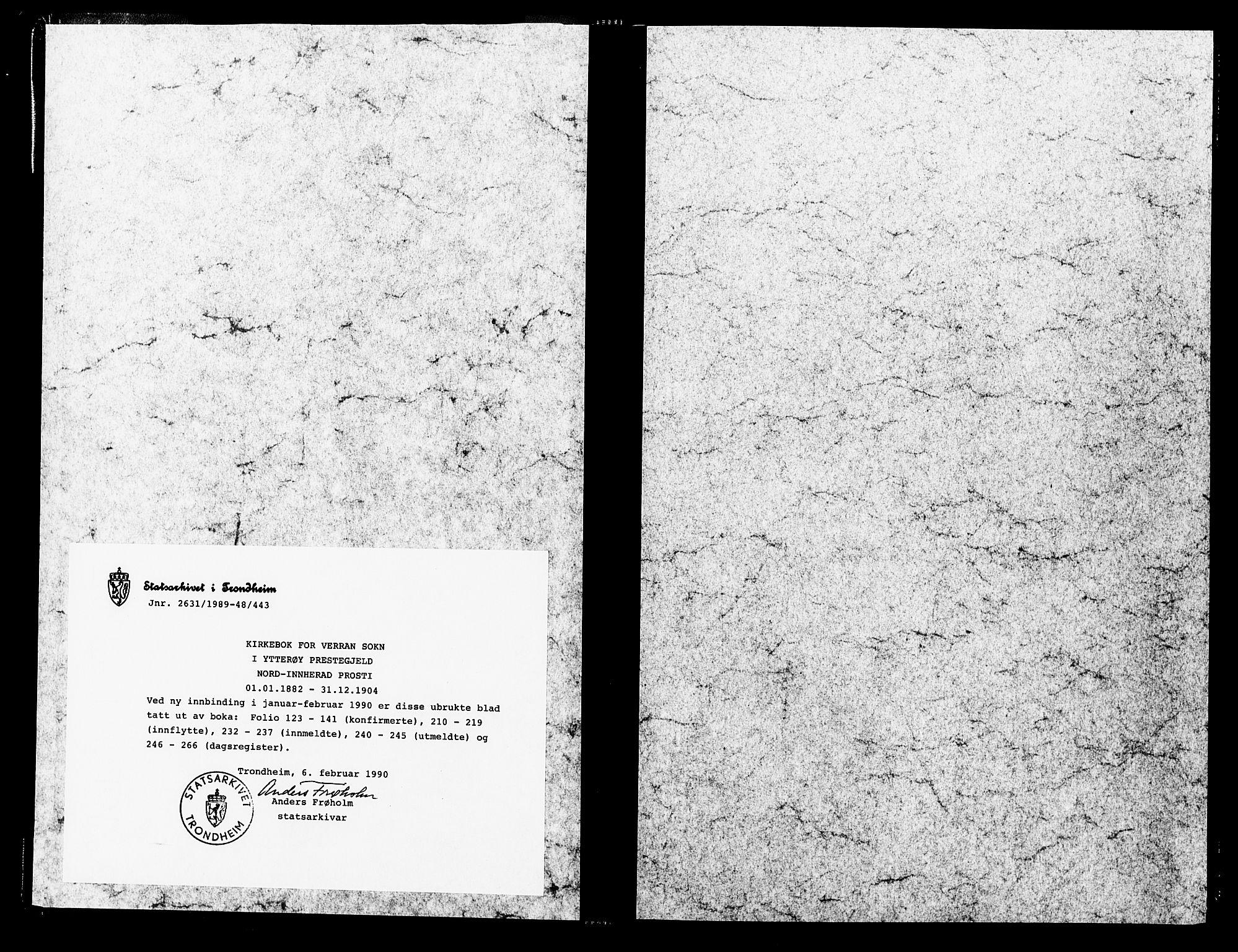 SAT, Ministerialprotokoller, klokkerbøker og fødselsregistre - Nord-Trøndelag, 744/L0420: Ministerialbok nr. 744A04, 1882-1904