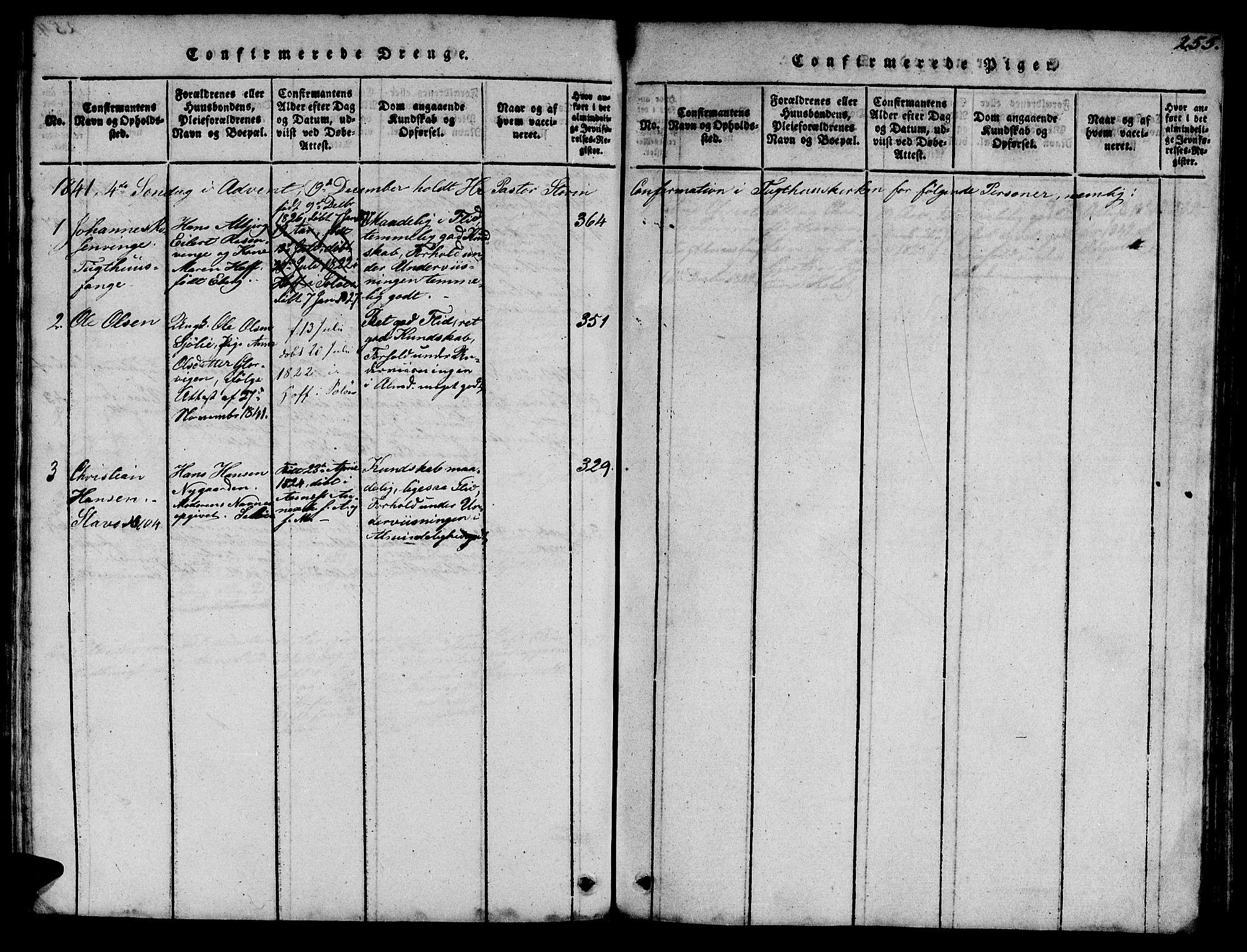 SAT, Ministerialprotokoller, klokkerbøker og fødselsregistre - Sør-Trøndelag, 623/L0478: Klokkerbok nr. 623C01, 1815-1873, s. 255