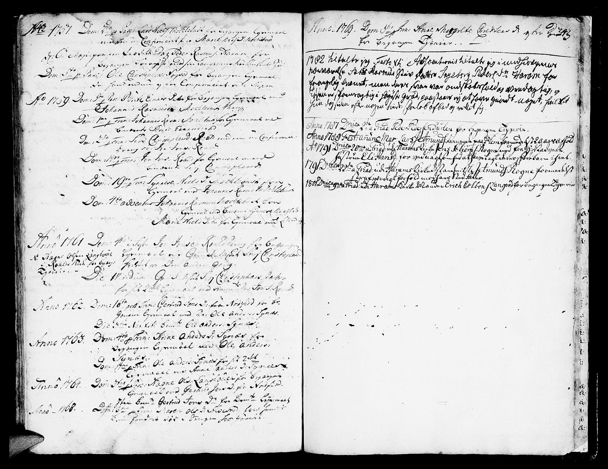 SAT, Ministerialprotokoller, klokkerbøker og fødselsregistre - Møre og Romsdal, 536/L0493: Ministerialbok nr. 536A02, 1739-1802, s. 342-343