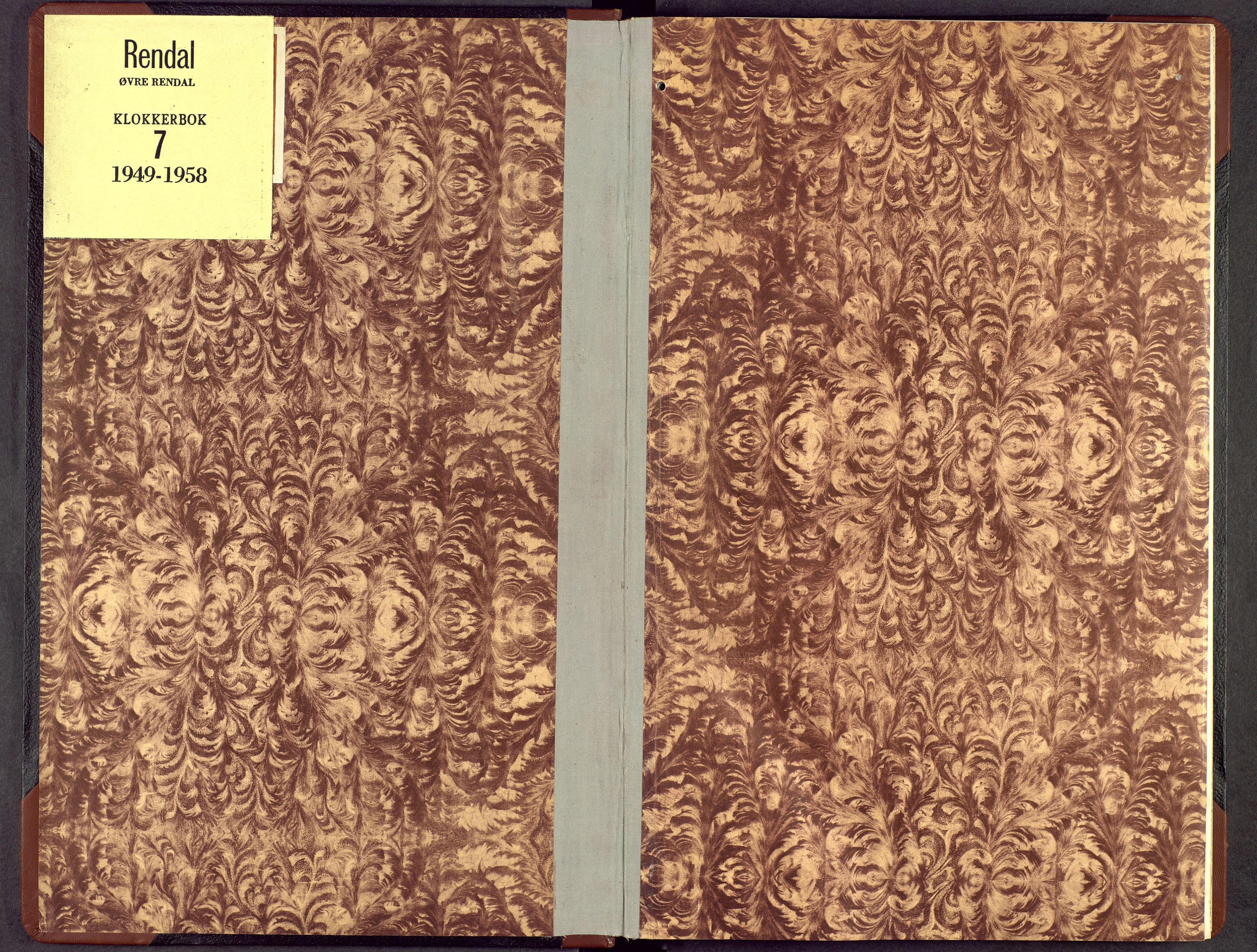 SAH, Rendalen prestekontor, H/Ha/Hab/L0007: Klokkerbok nr. 7, 1949-1958