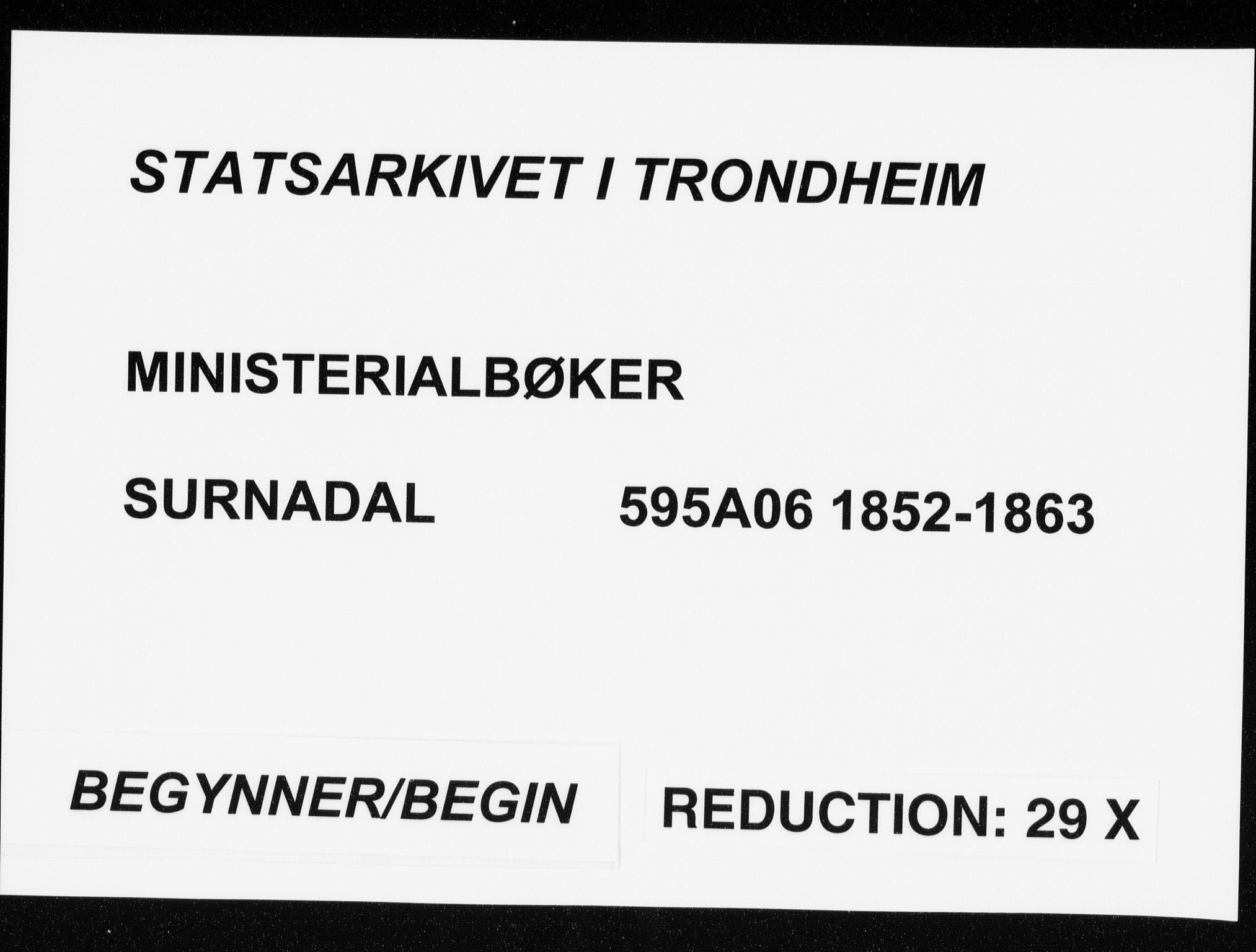 SAT, Ministerialprotokoller, klokkerbøker og fødselsregistre - Møre og Romsdal, 595/L1044: Ministerialbok nr. 595A06, 1852-1863