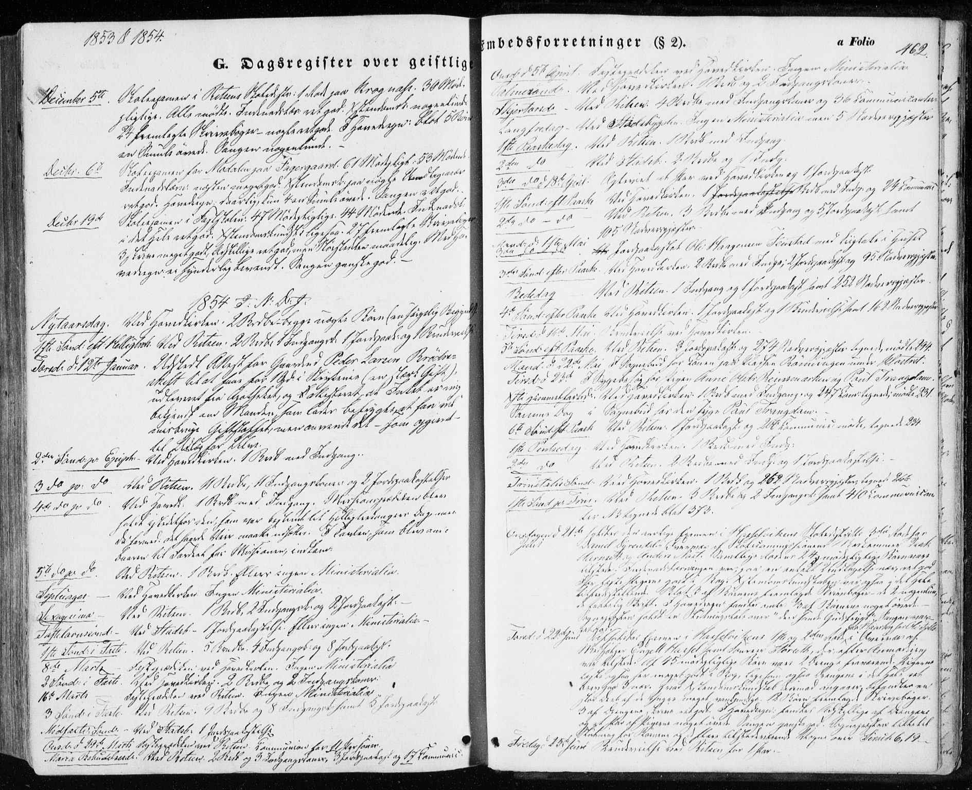 SAT, Ministerialprotokoller, klokkerbøker og fødselsregistre - Sør-Trøndelag, 646/L0611: Ministerialbok nr. 646A09, 1848-1857, s. 462