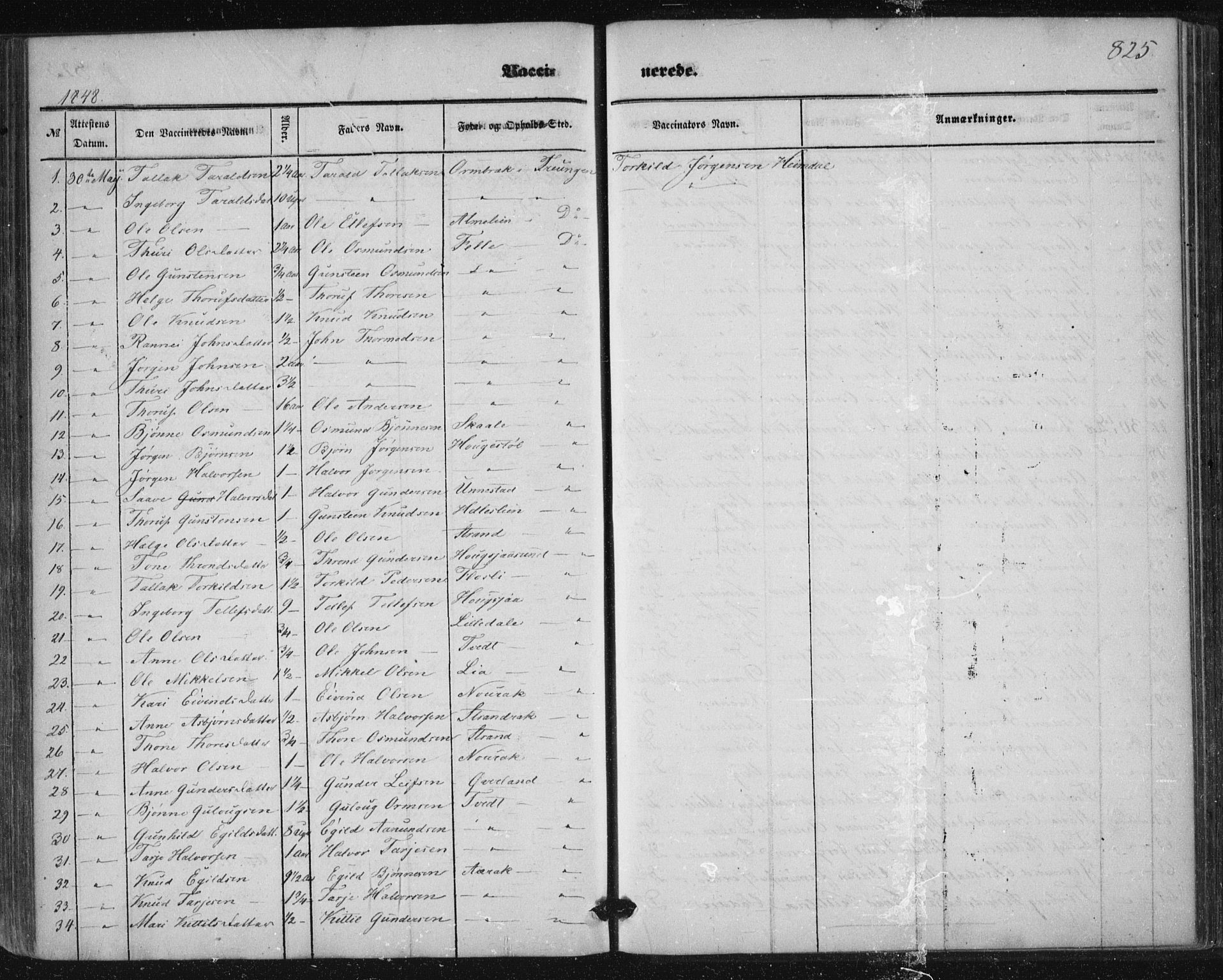 SAKO, Nissedal kirkebøker, F/Fa/L0003: Ministerialbok nr. I 3, 1846-1870, s. 824-825