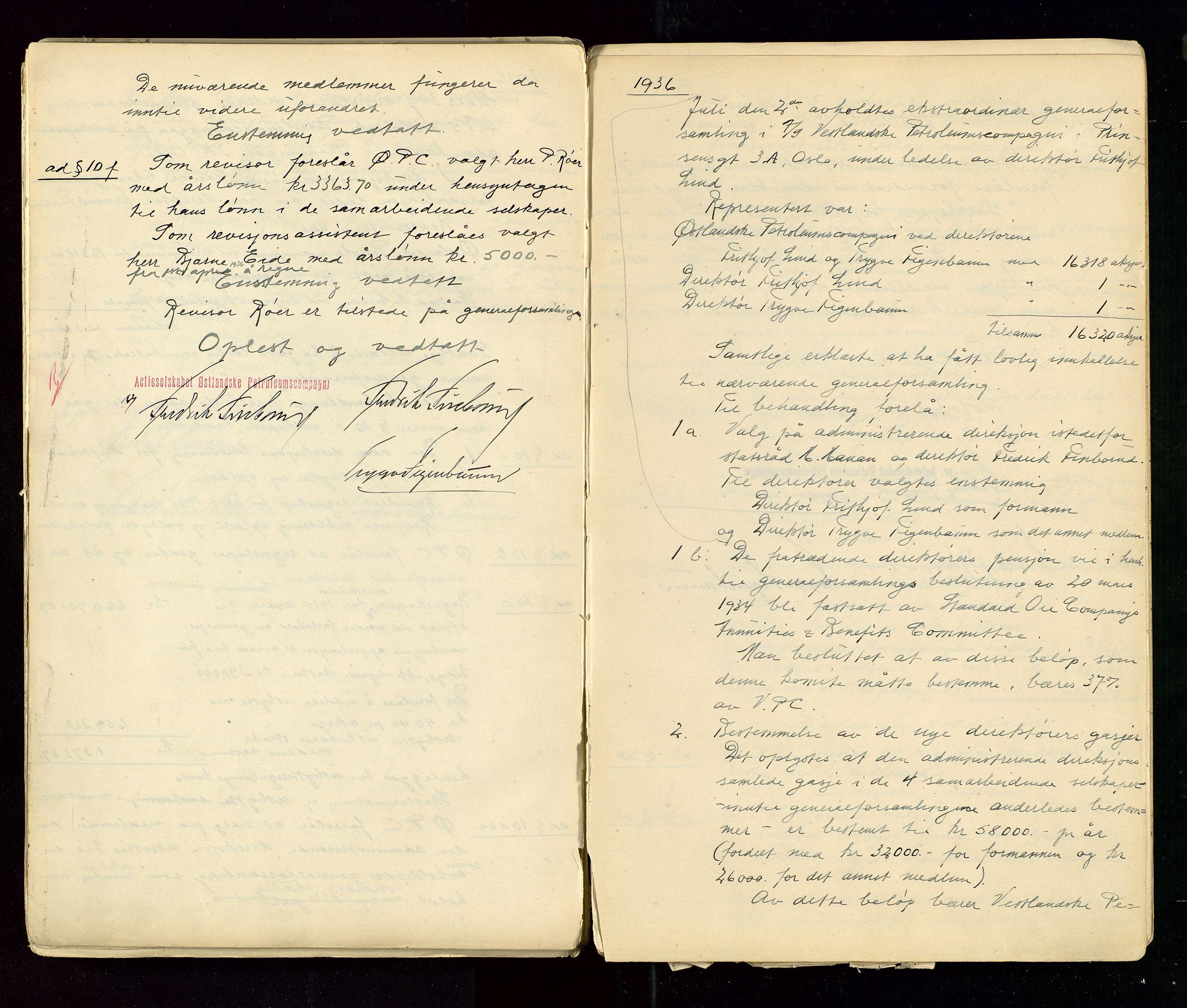 SAST, PA 1533 - A/S Vestlandske Petroleumscompani, A/Aa/L0001: Generalforsamlinger og styreprotokoller, 1890-1953, s. 111