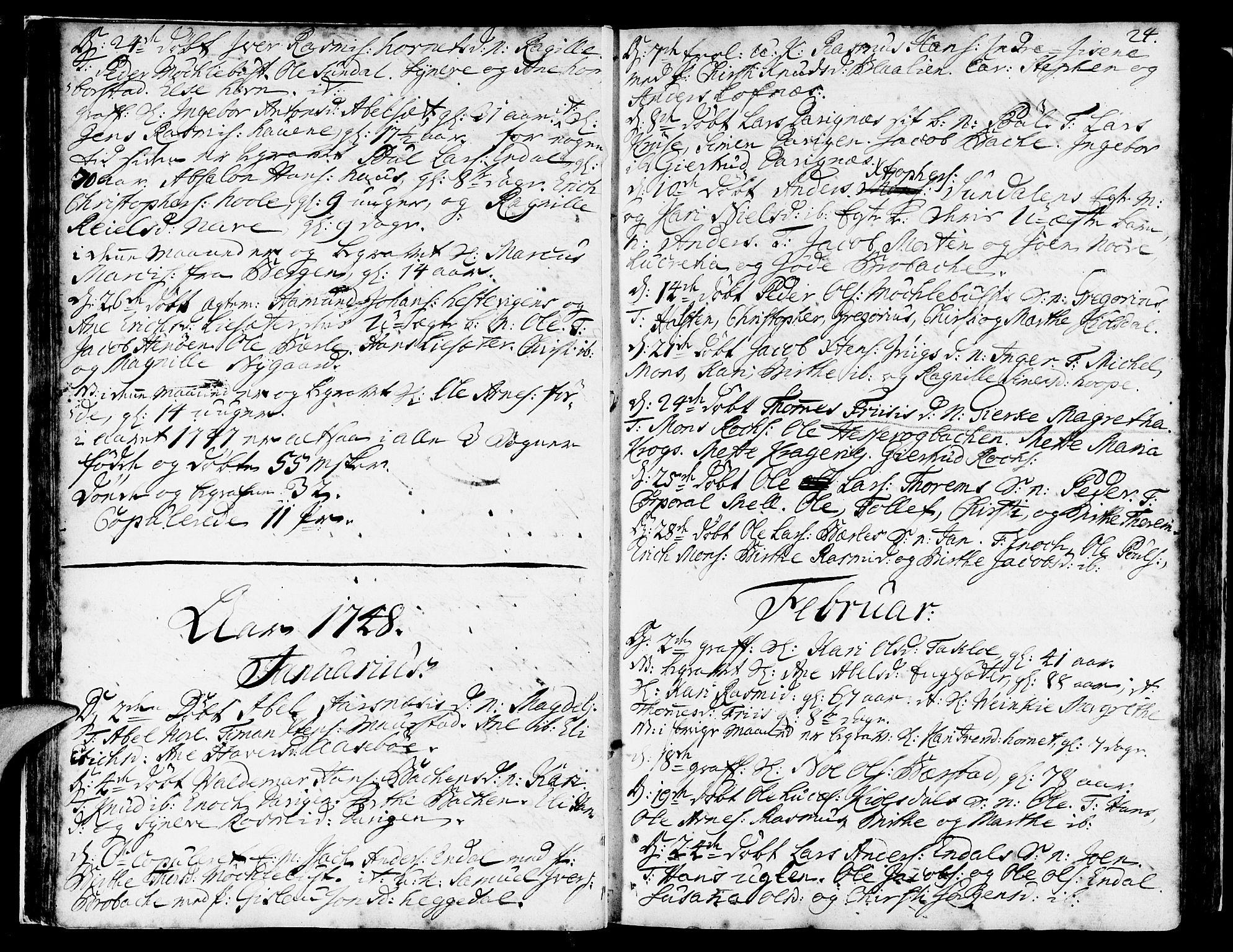 SAB, Davik Sokneprestembete, Ministerialbok nr. A 2, 1742-1816, s. 24