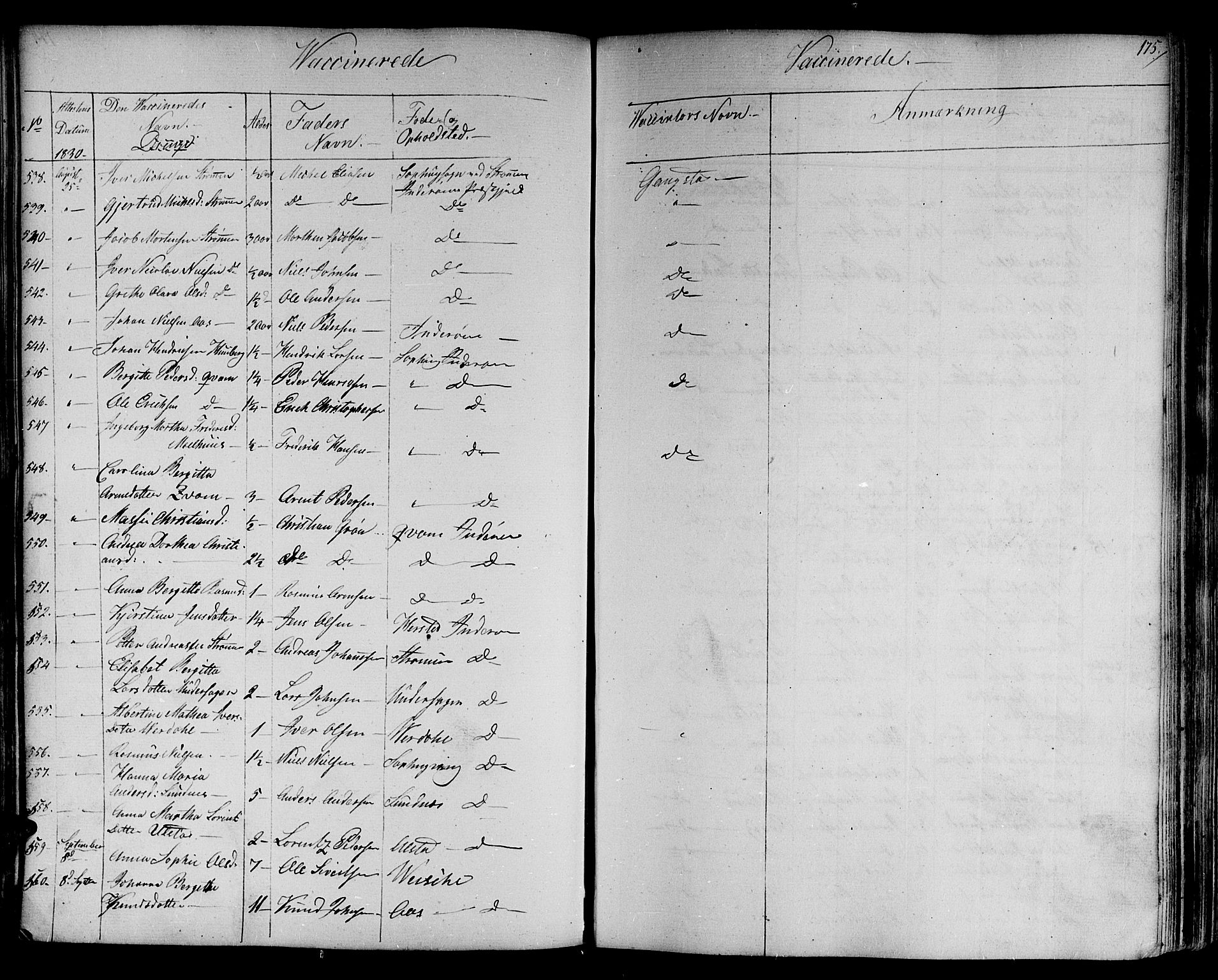 SAT, Ministerialprotokoller, klokkerbøker og fødselsregistre - Nord-Trøndelag, 730/L0277: Ministerialbok nr. 730A06 /1, 1830-1839, s. 175