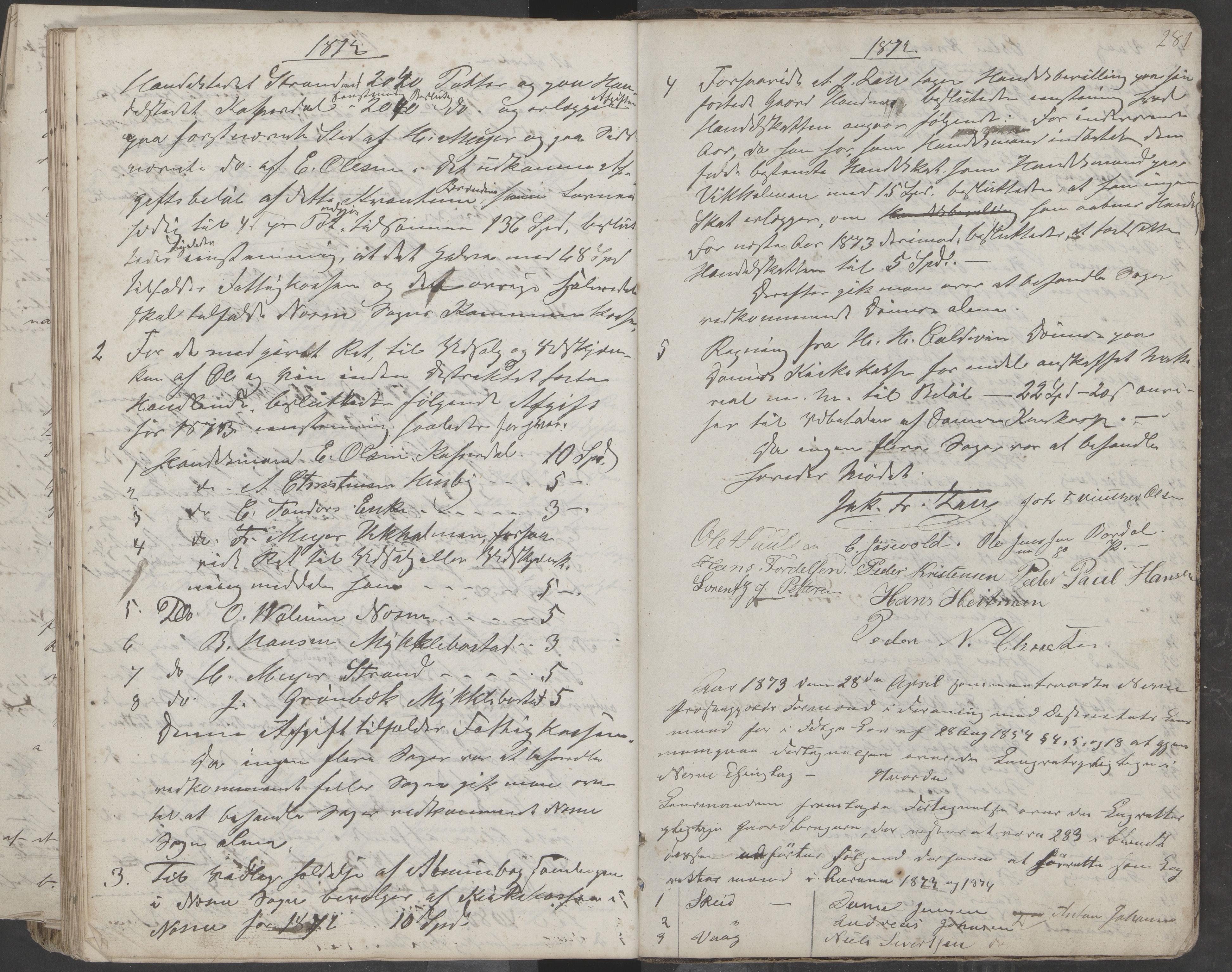 AIN, Nesna kommune. Formannskapet, 100/L0001: Møtebok, 1838-1873, s. 281