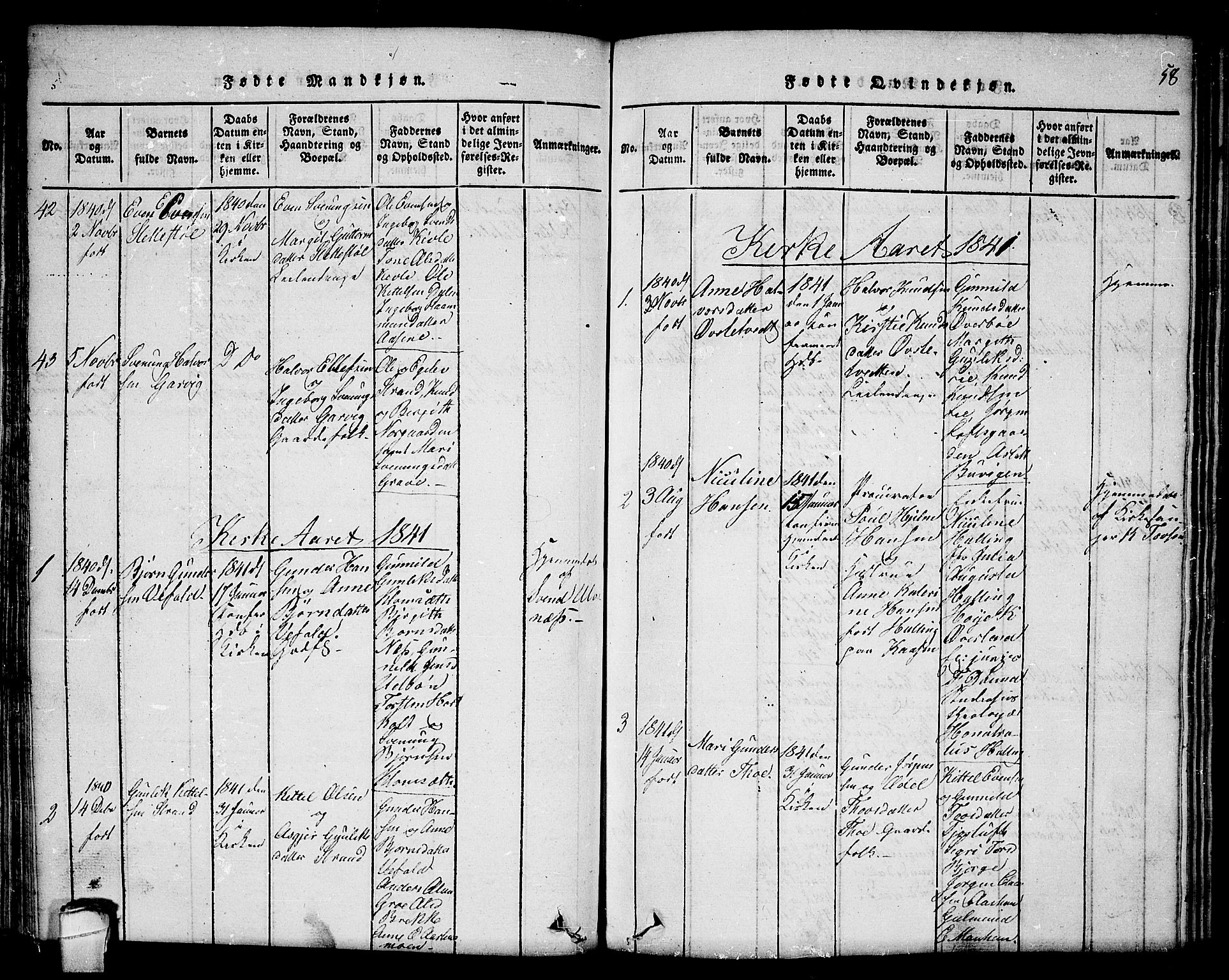 SAKO, Seljord kirkebøker, F/Fc/L0001: Ministerialbok nr. III 1, 1815-1831, s. 58
