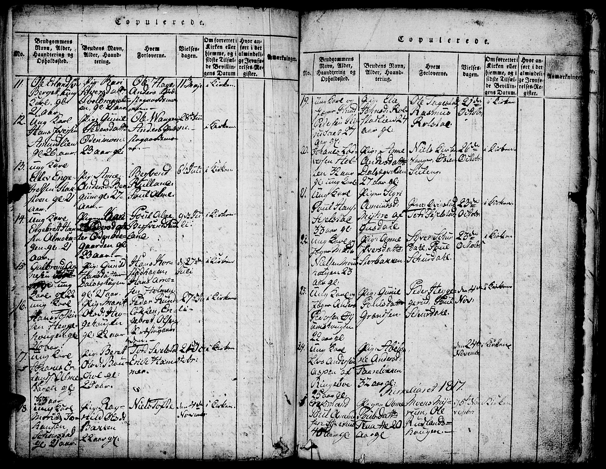 SAH, Fron prestekontor, H/Ha/Hab/L0001: Klokkerbok nr. 1, 1816-1843, s. 191